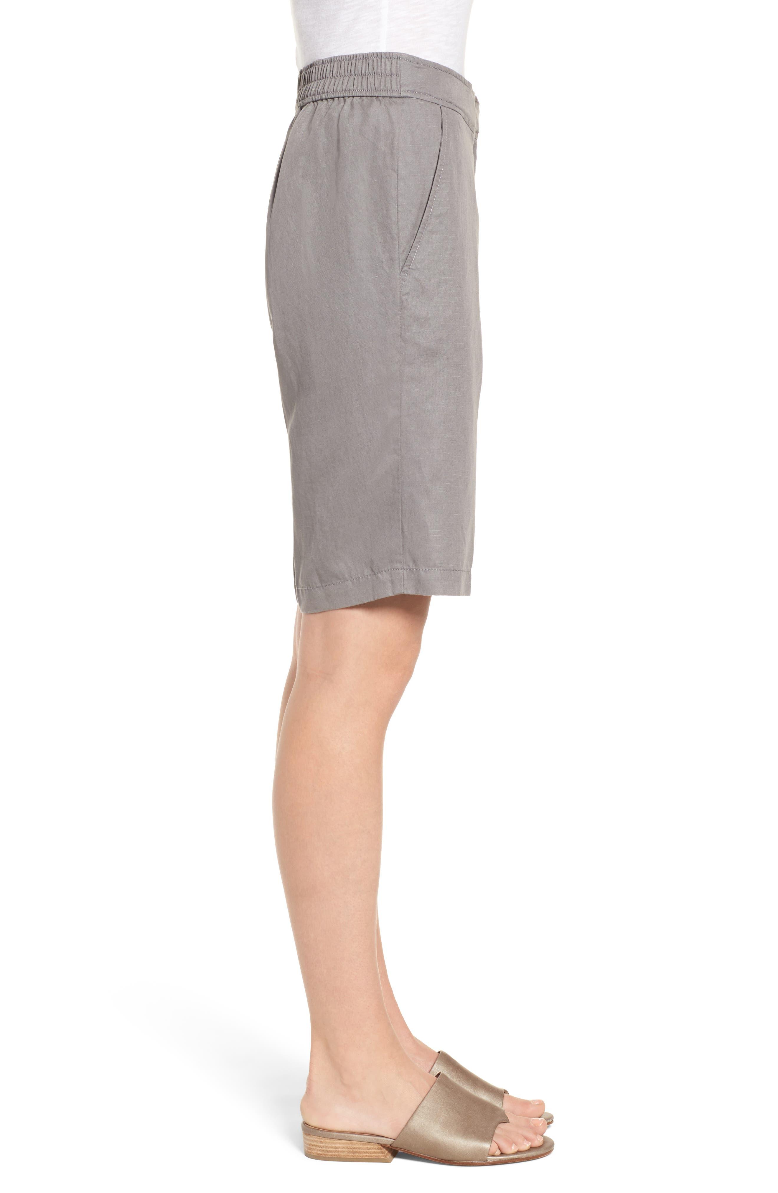Tencel<sup>®</sup> Lyocell & Linen Walking Shorts,                             Alternate thumbnail 8, color,