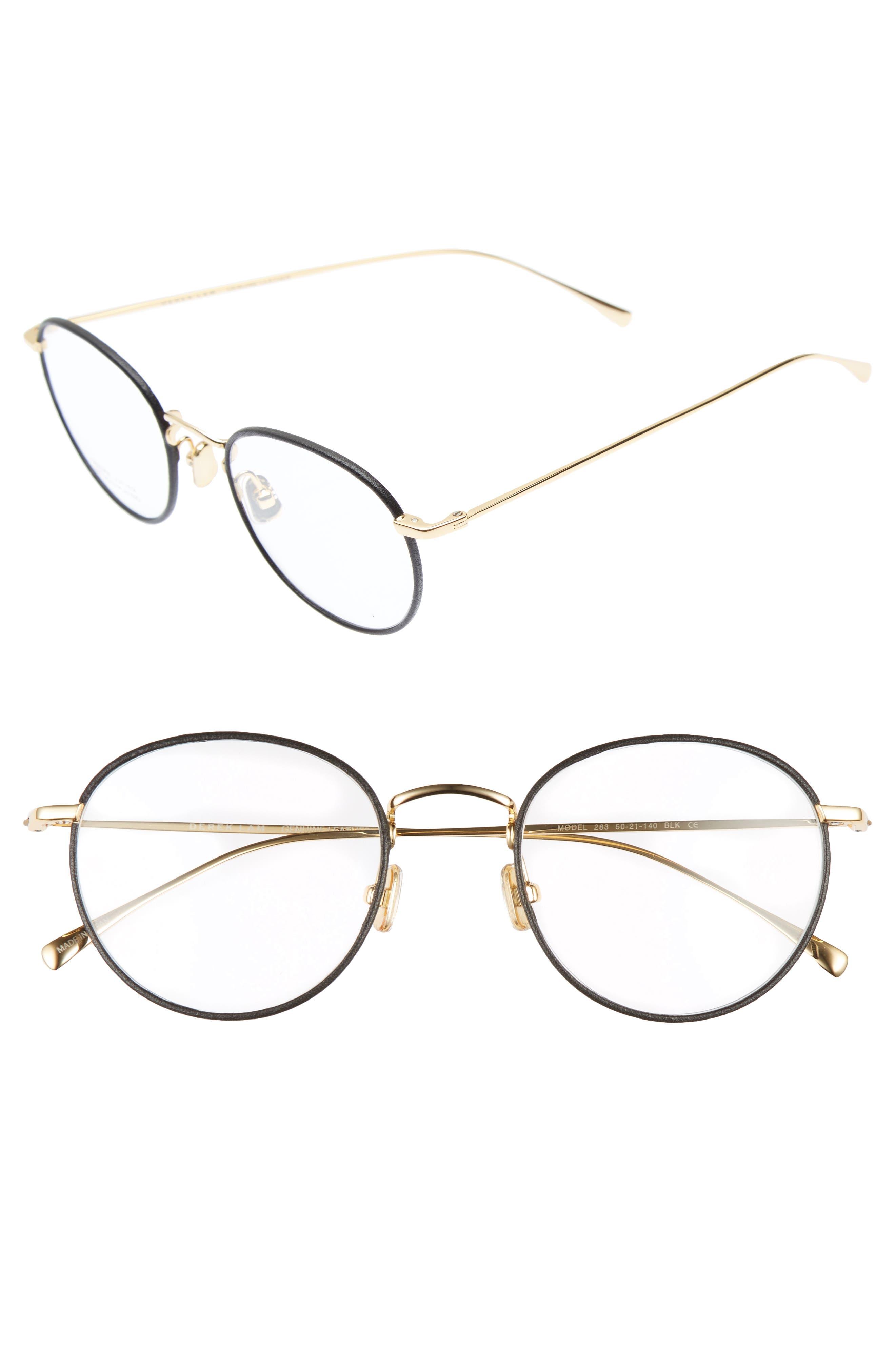 50mm Optical Glasses,                             Main thumbnail 1, color,                             BLACK