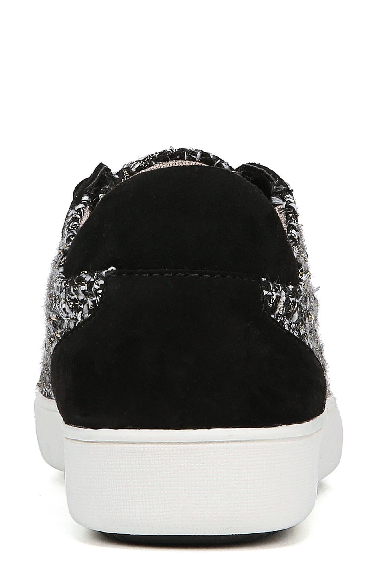 Morrison Sneaker,                             Alternate thumbnail 9, color,                             BLACK/ WHITE TWEED FABRIC