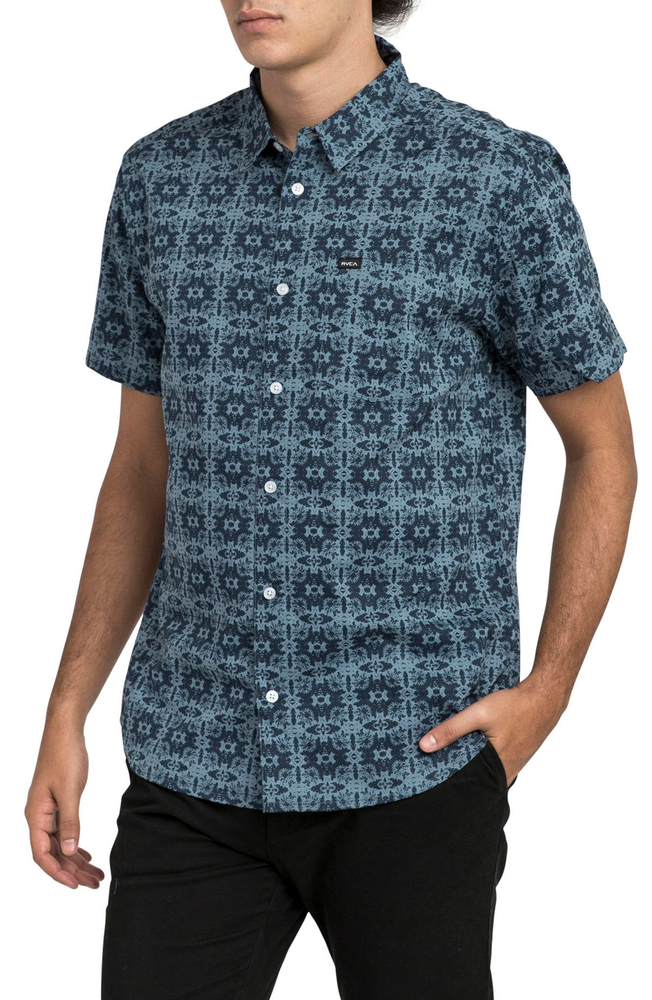 Visions Short Sleeve Shirt,                             Alternate thumbnail 3, color,                             407