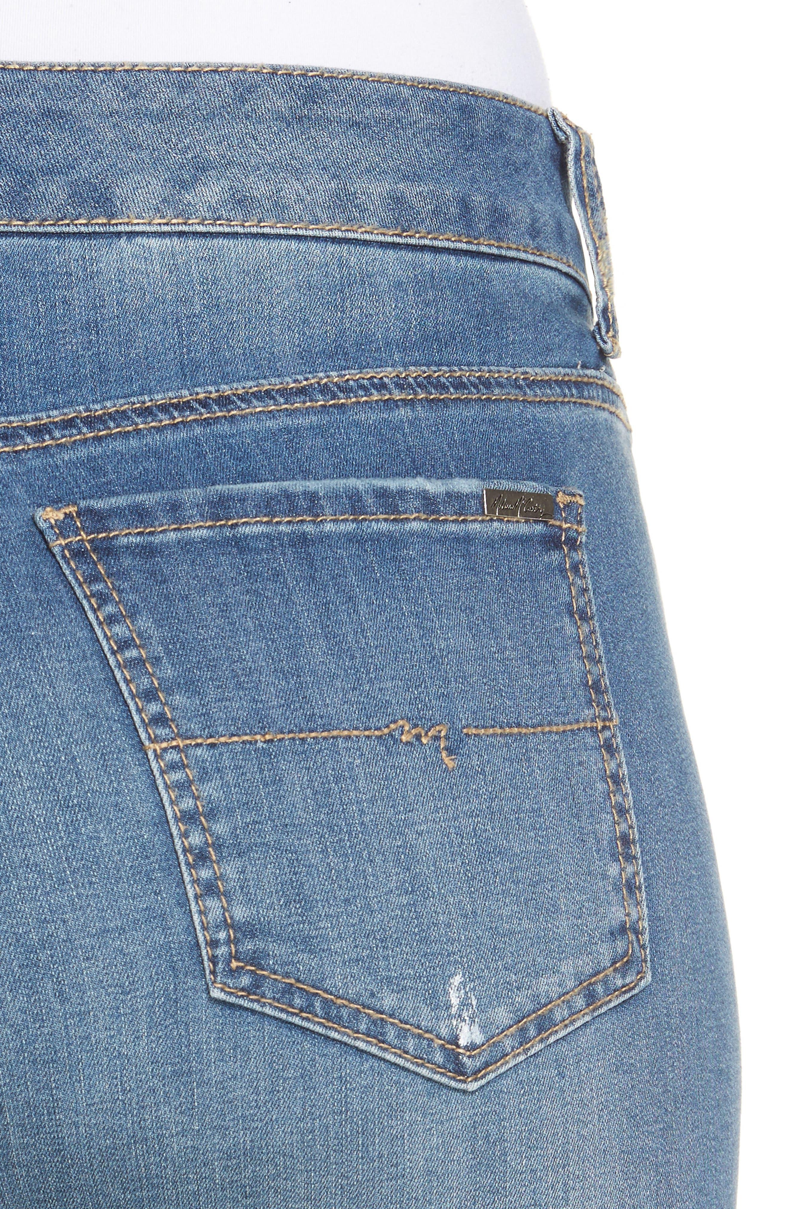 Stretch Crop Girlfriend Jeans,                             Alternate thumbnail 11, color,