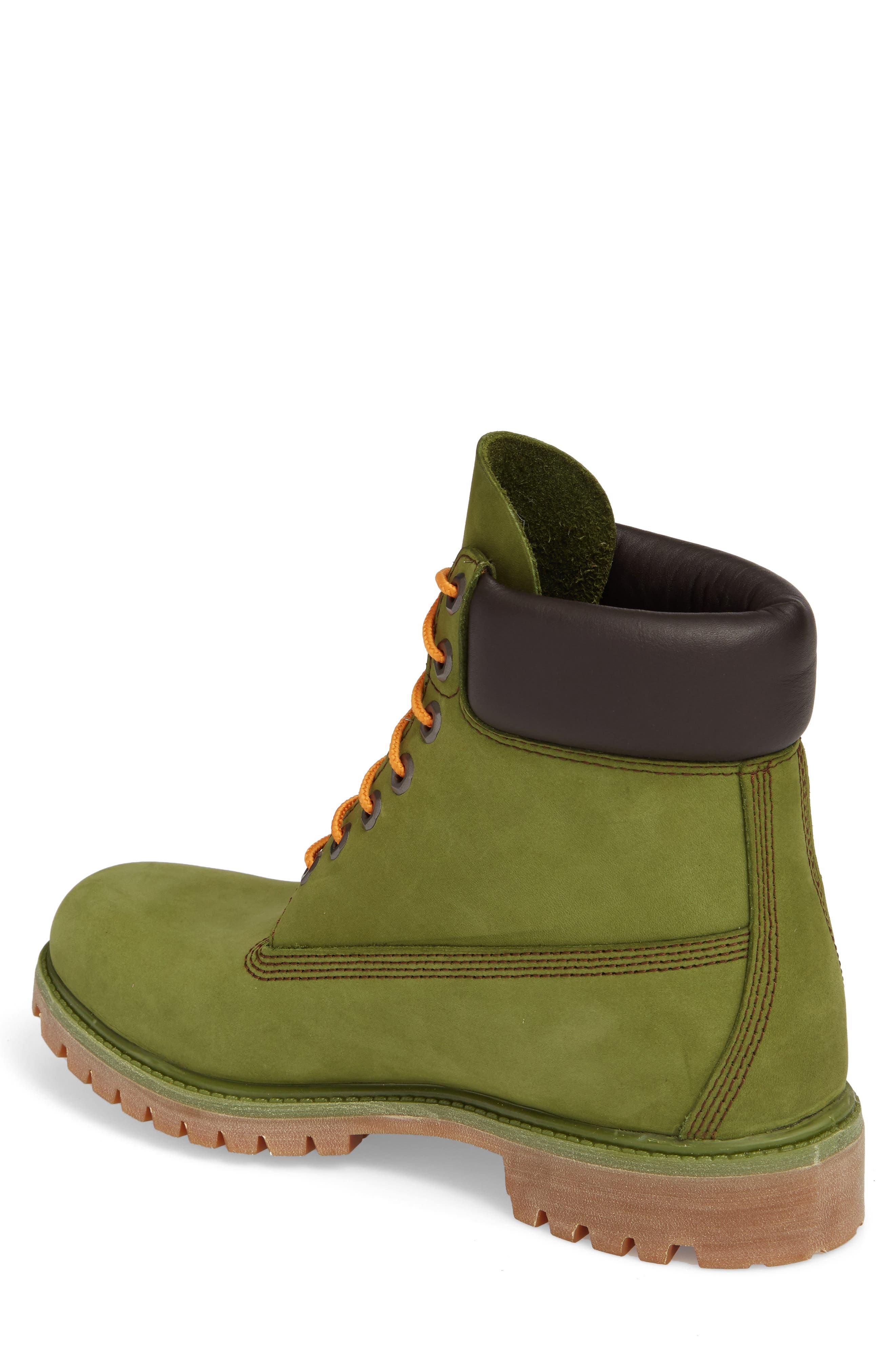 'Six Inch Classic Boots Series - Premium' Boot,                             Alternate thumbnail 2, color,                             PESTO WATERBUCK