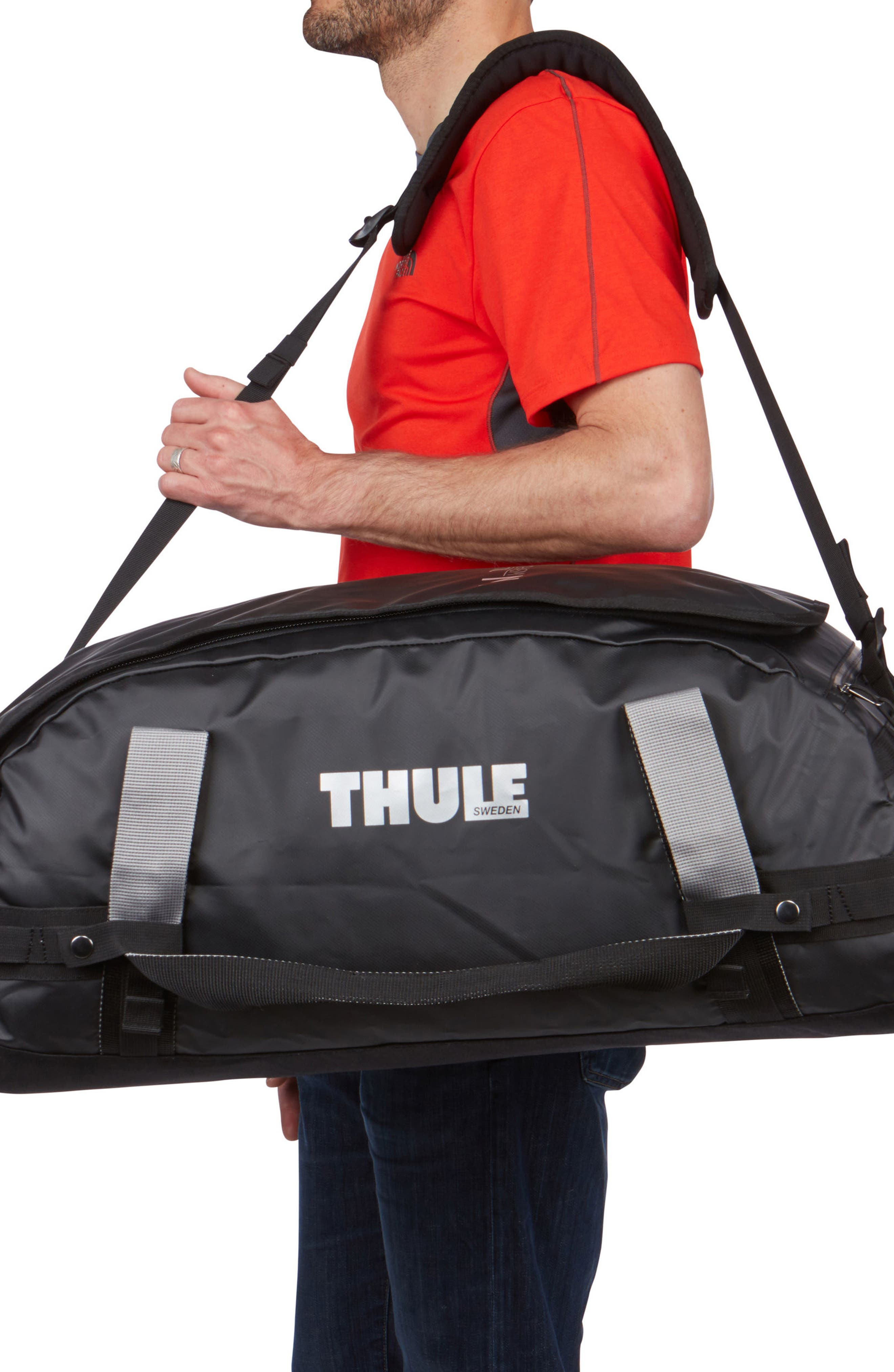 Chasm 70-Liter Convertible Duffel Bag,                             Alternate thumbnail 5, color,                             BLACK