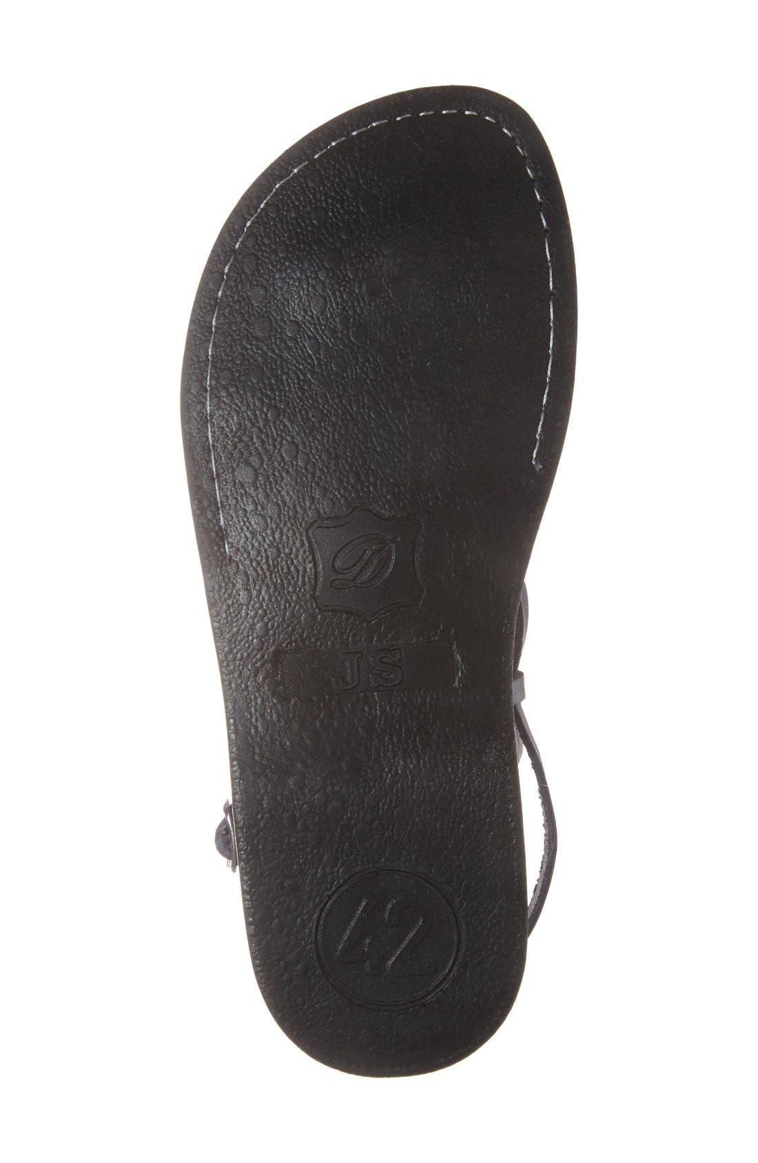 'The Good Shepherd' Leather Sandal,                             Alternate thumbnail 4, color,                             GREY LEATHER