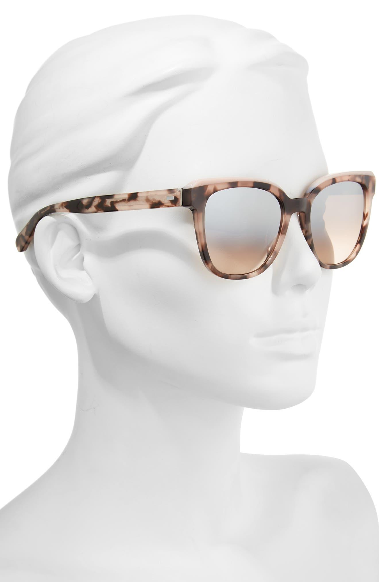 The Bardot 53mm Gradient Sunglasses,                             Alternate thumbnail 6, color,