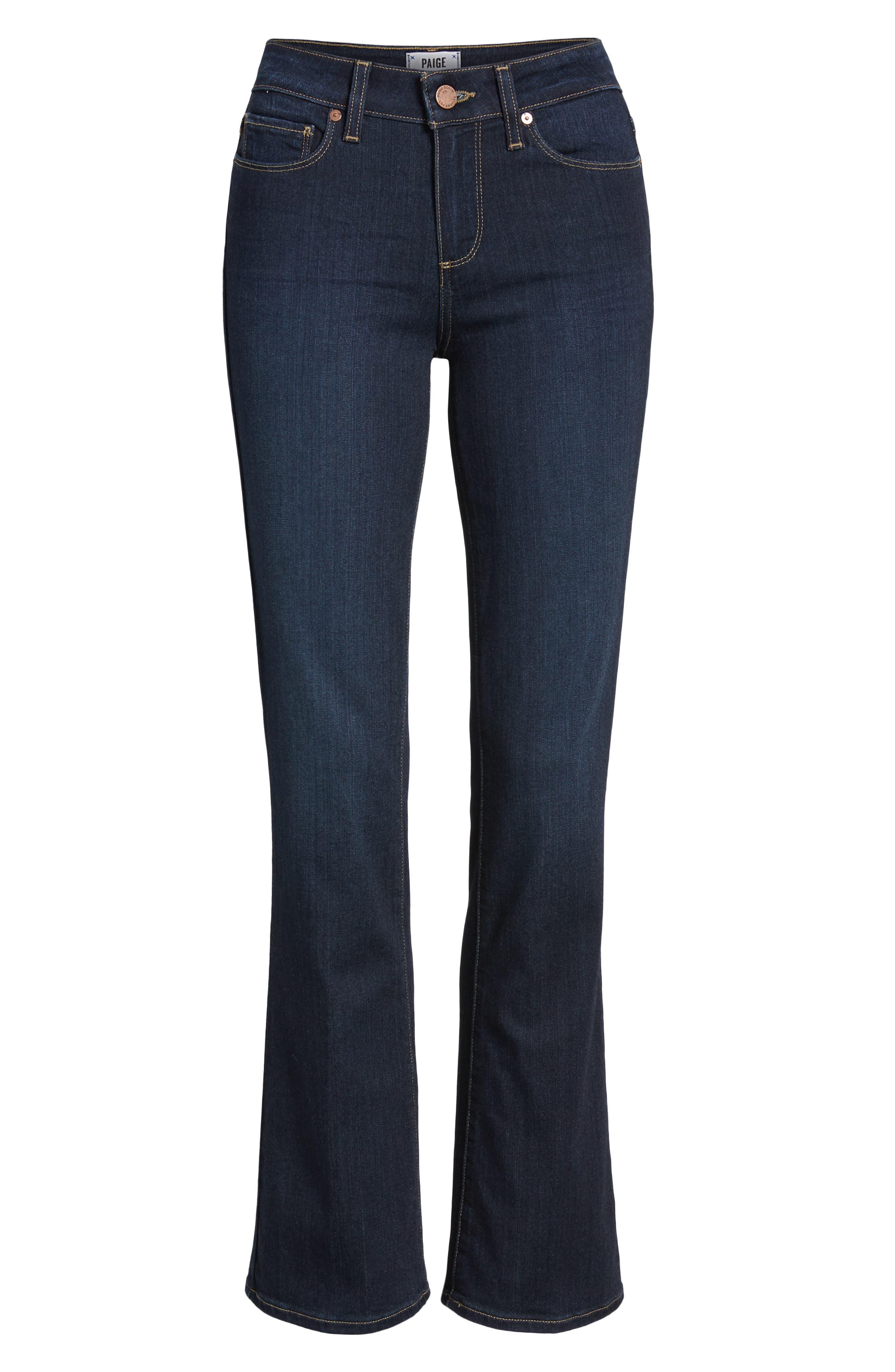 Transcend - Manhattan High Waist Bootcut Jeans,                             Alternate thumbnail 7, color,                             SANIA