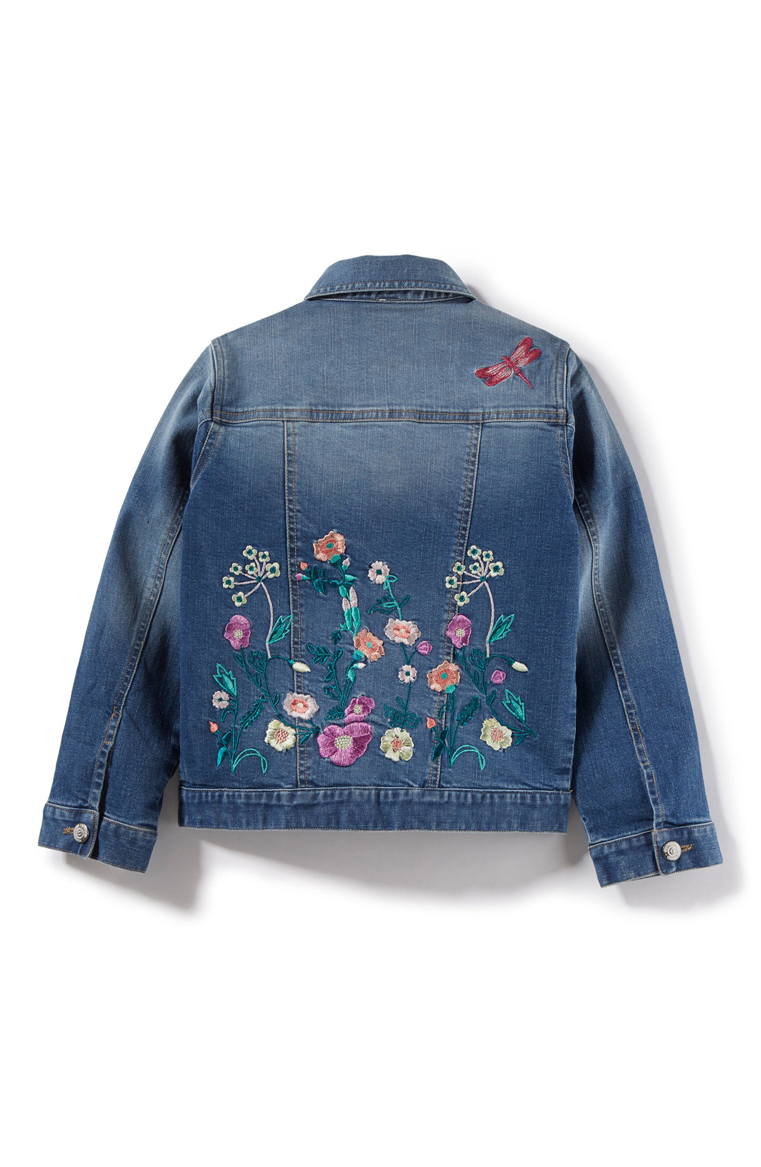Embroidered Denim Jacket,                             Alternate thumbnail 2, color,                             416