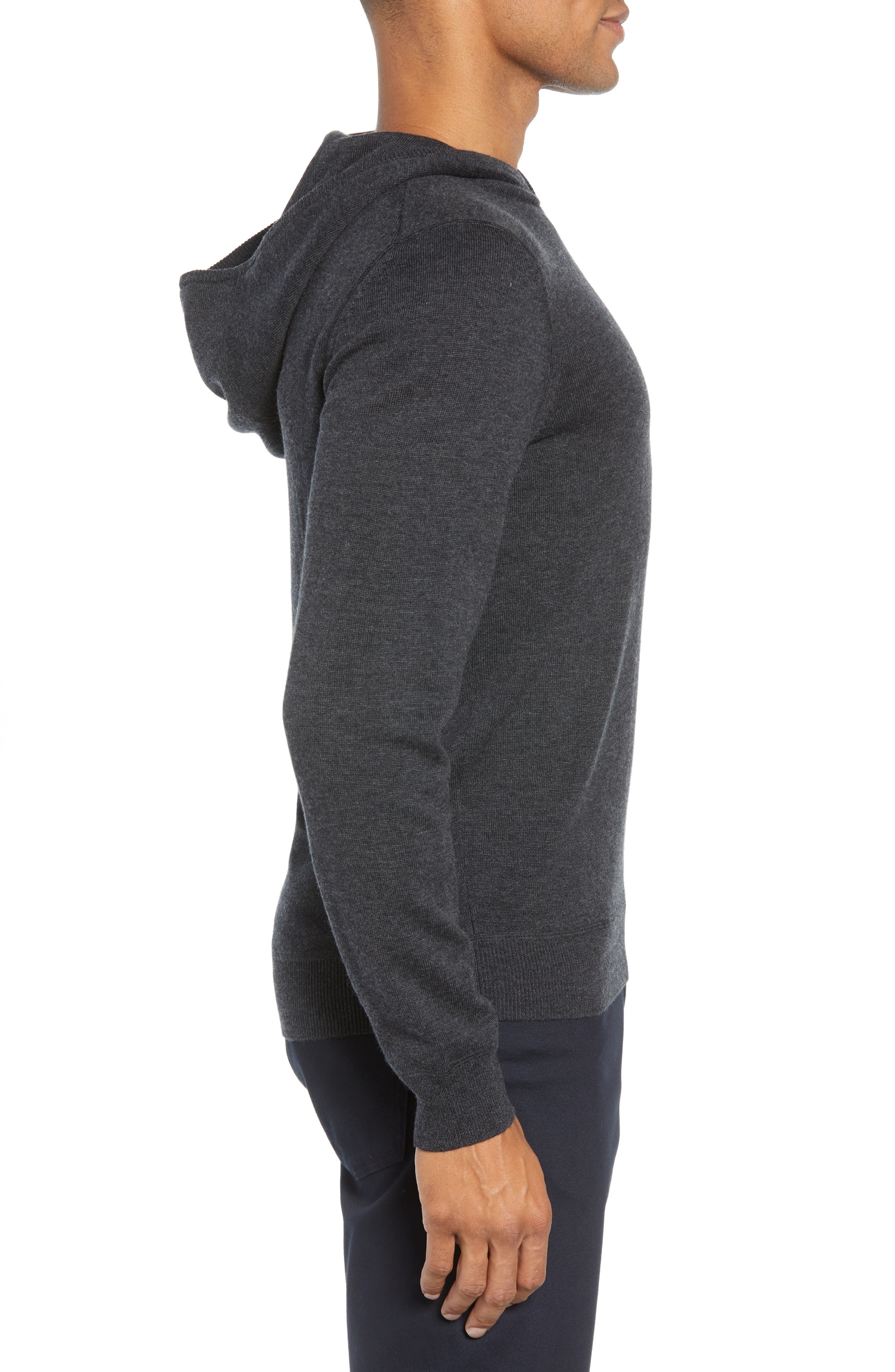 Efabio Wool Blend Hoodie,                             Alternate thumbnail 3, color,                             GREY