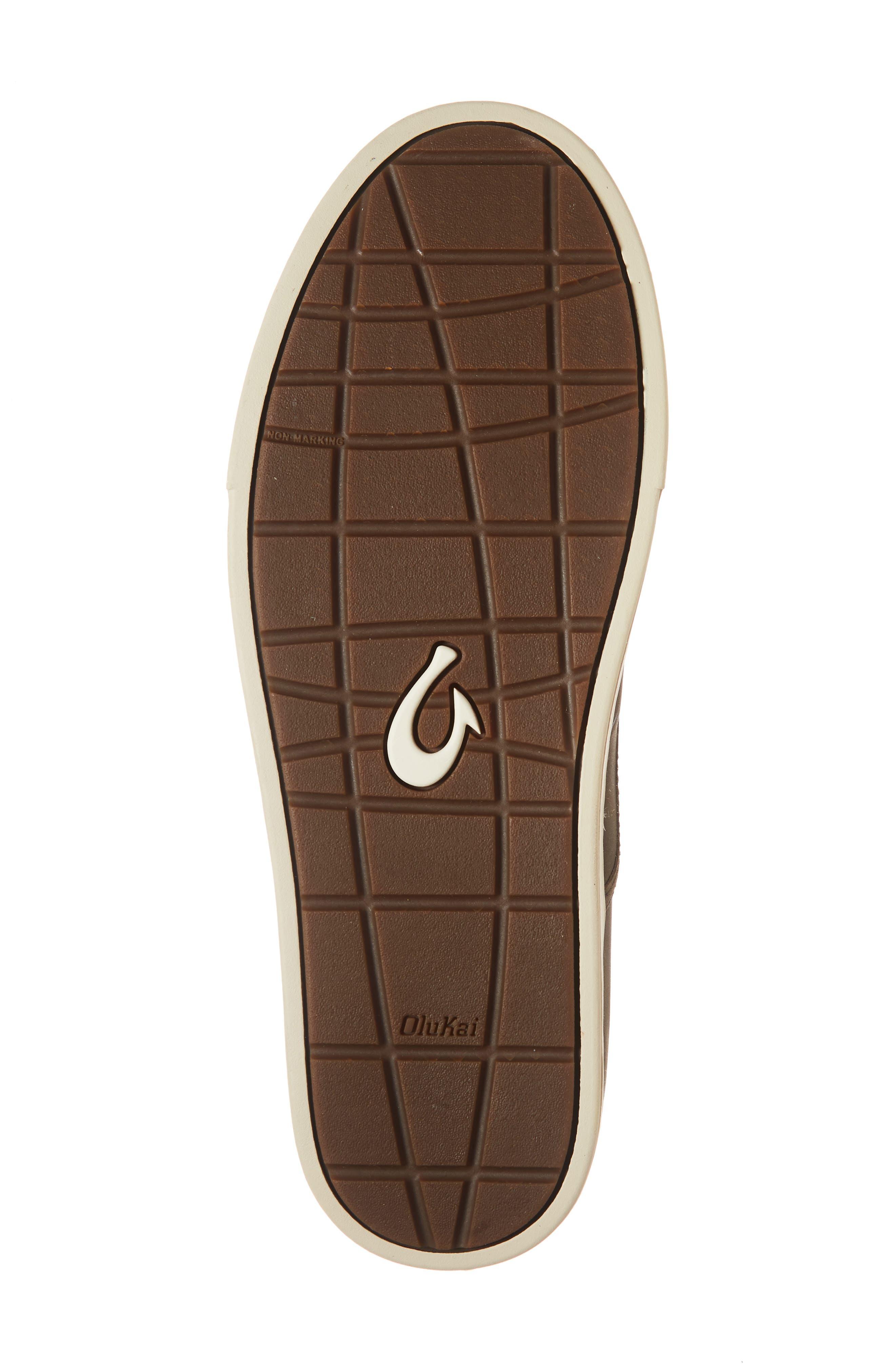 Kahu 'Ili Collapsible Sneaker,                             Alternate thumbnail 6, color,                             DARK WOOD/ TAPA LEATHER