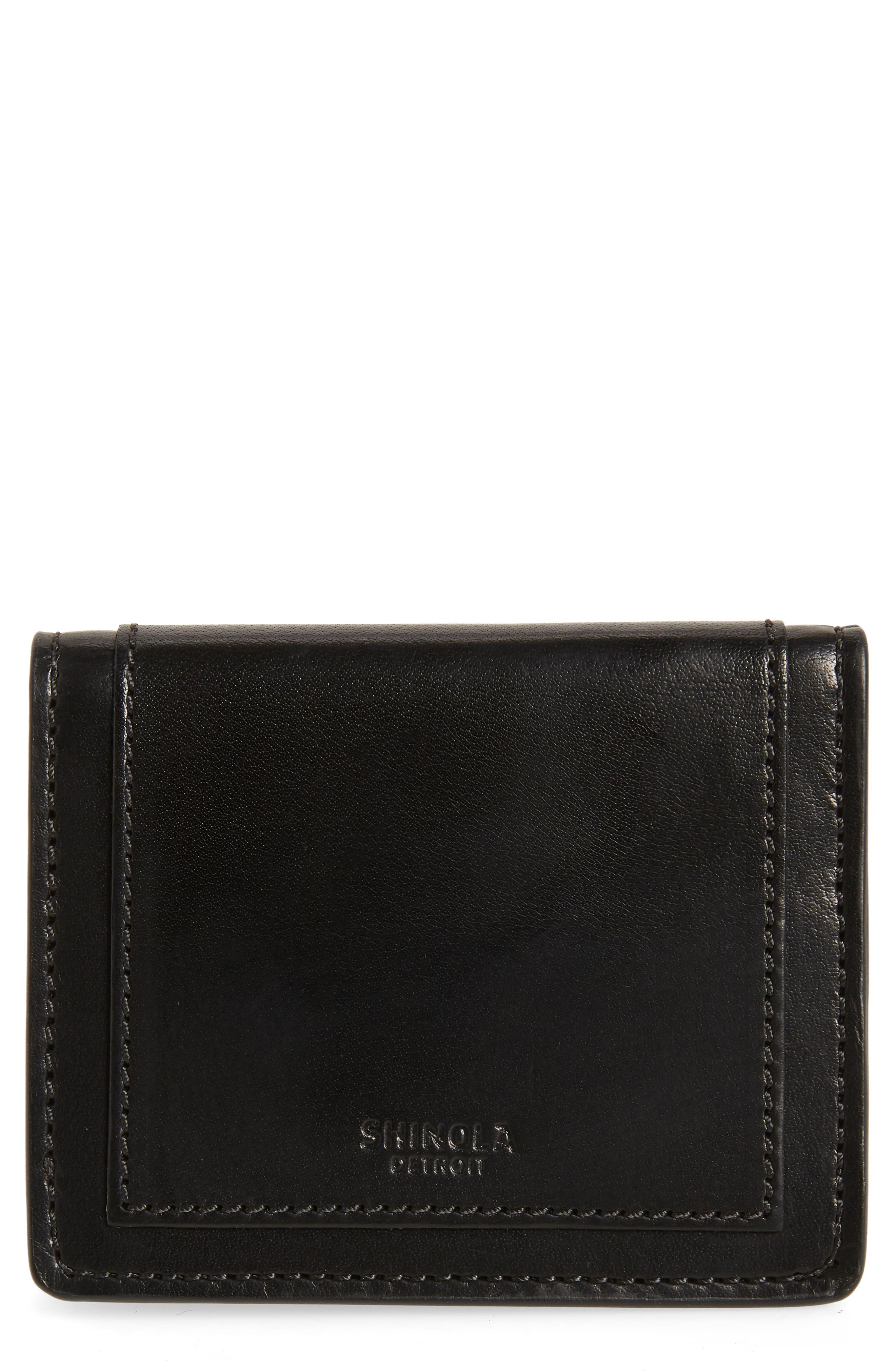 Outlaw Folding Card Case,                             Main thumbnail 1, color,                             BLACK