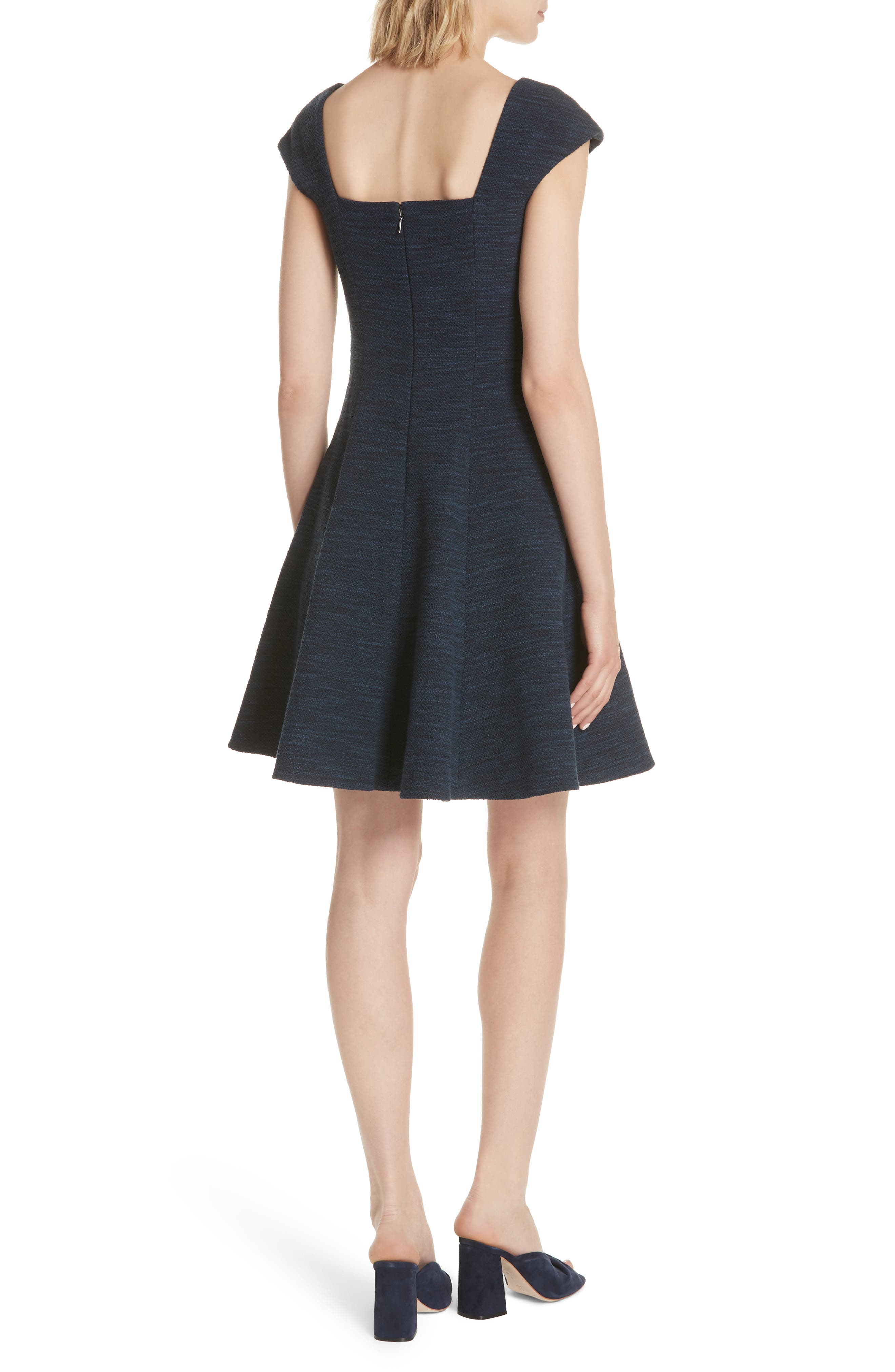 Tweed Fit & Flare Dress,                             Alternate thumbnail 2, color,                             482