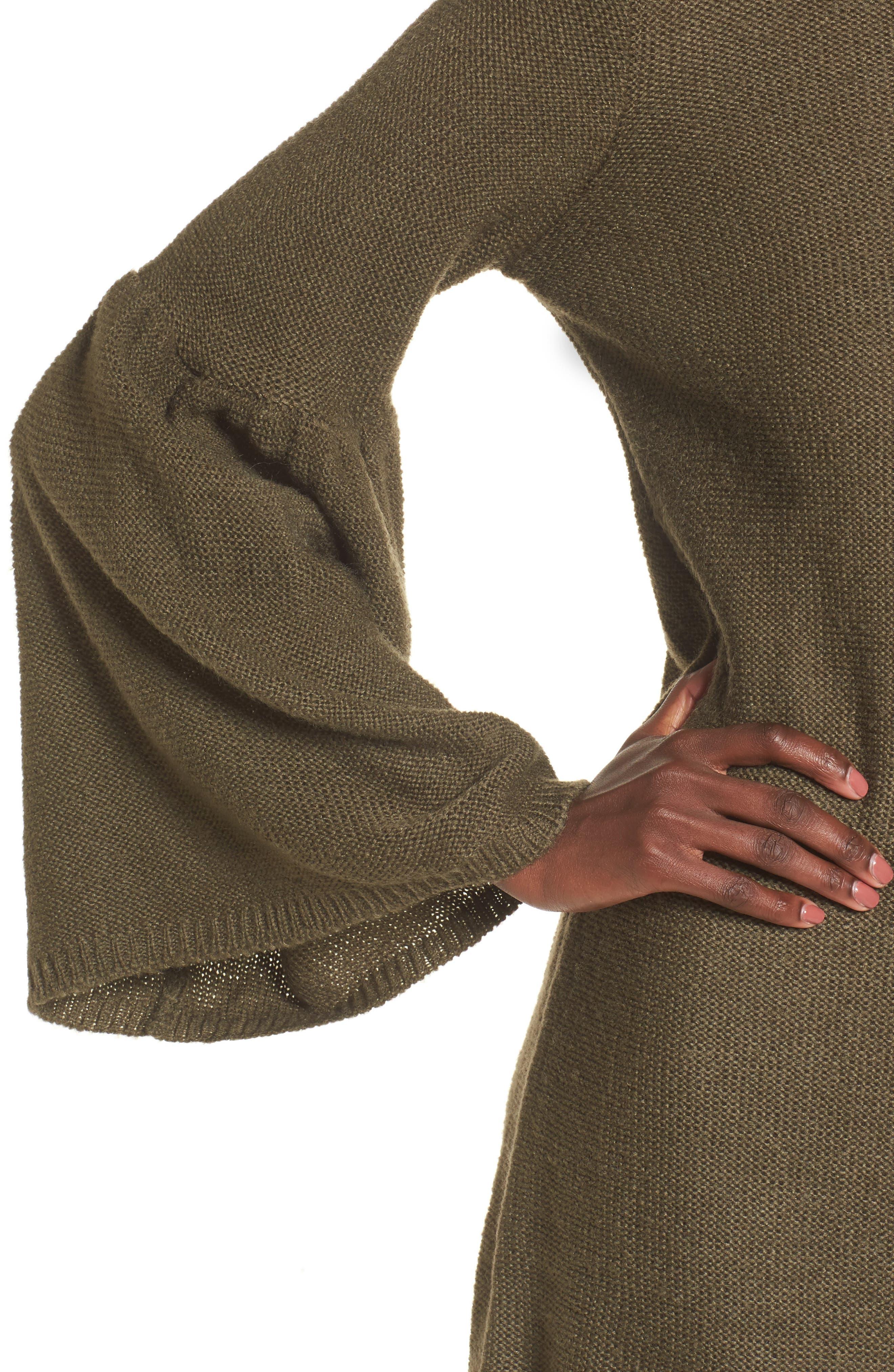 Bell Sleeve Sweater Dress,                             Alternate thumbnail 8, color,
