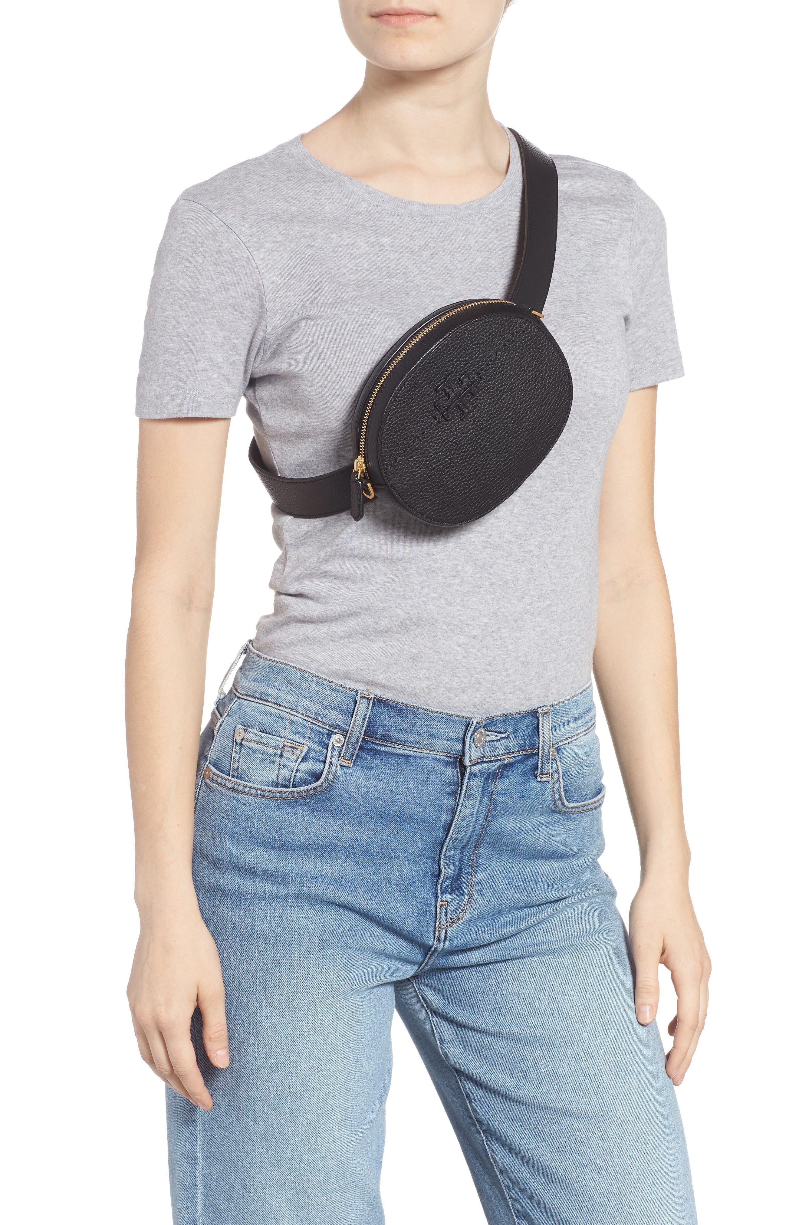 McGraw Leather Belt/Crossbody Bag,                             Alternate thumbnail 4, color,                             001