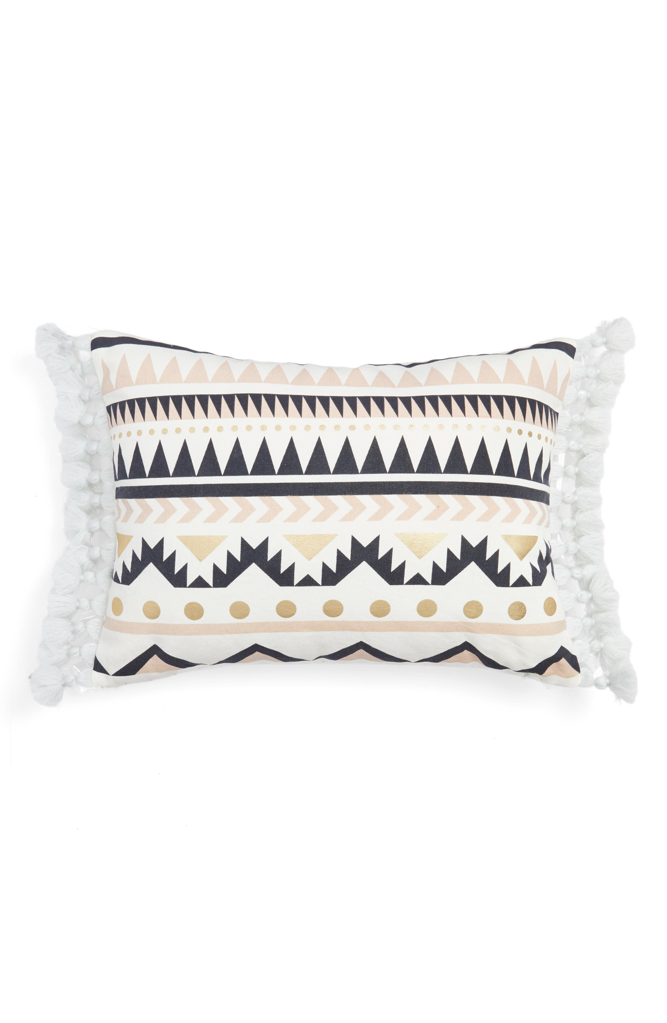 Geo Print Pillow,                         Main,                         color, WHITE