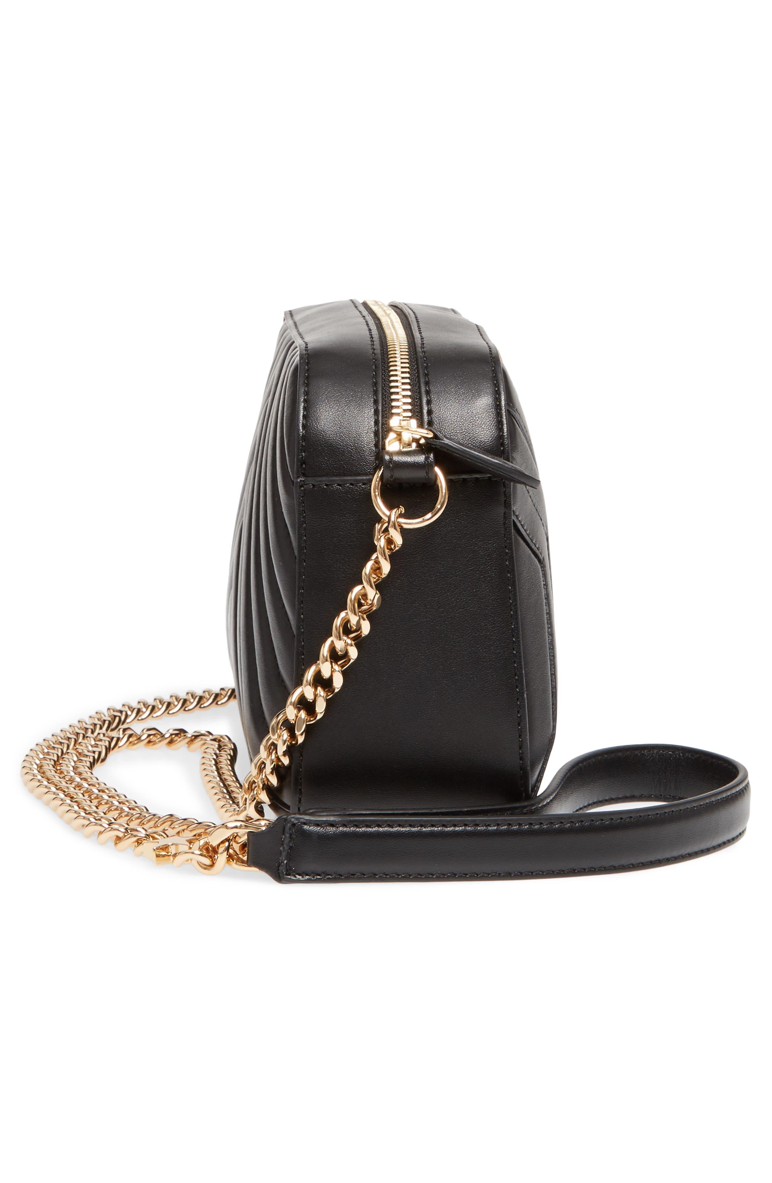 Alter Nappa Faux Leather Shoulder Bag,                             Alternate thumbnail 5, color,                             BLACK