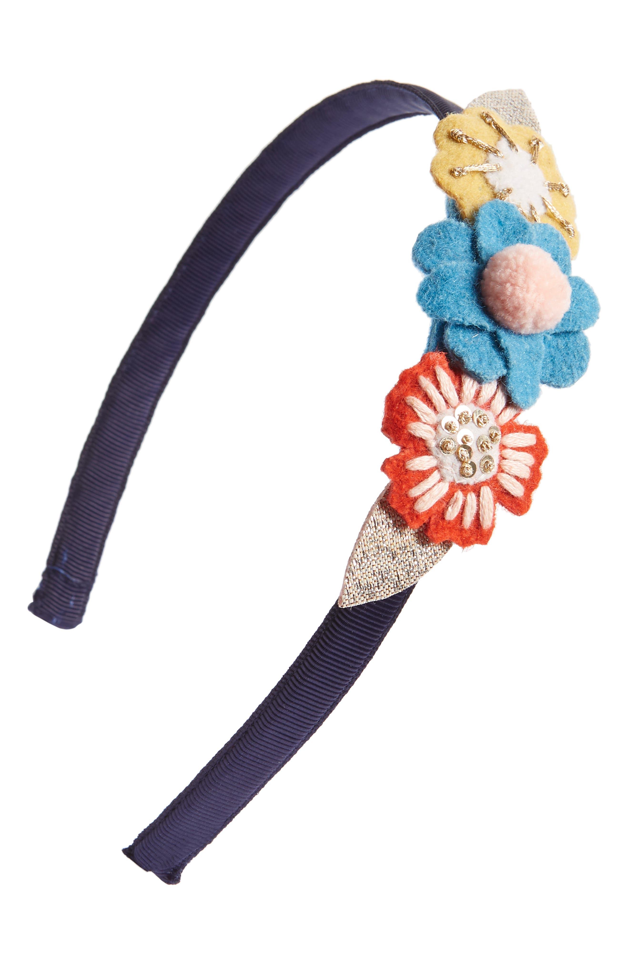 Flower Headband,                             Main thumbnail 1, color,                             MUL MULTI