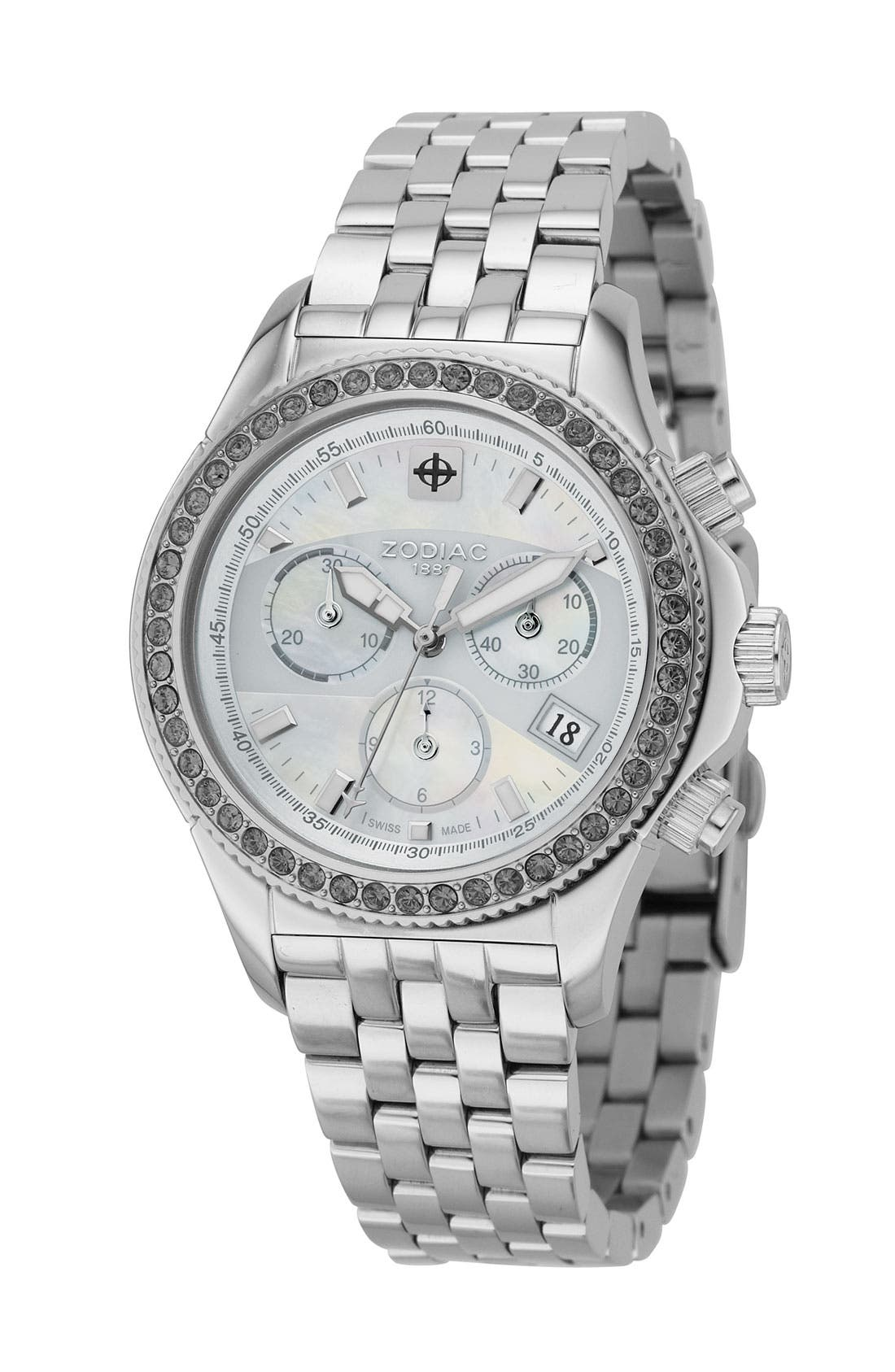 'Air Dragon' Stainless Steel Watch, Main, color, 040