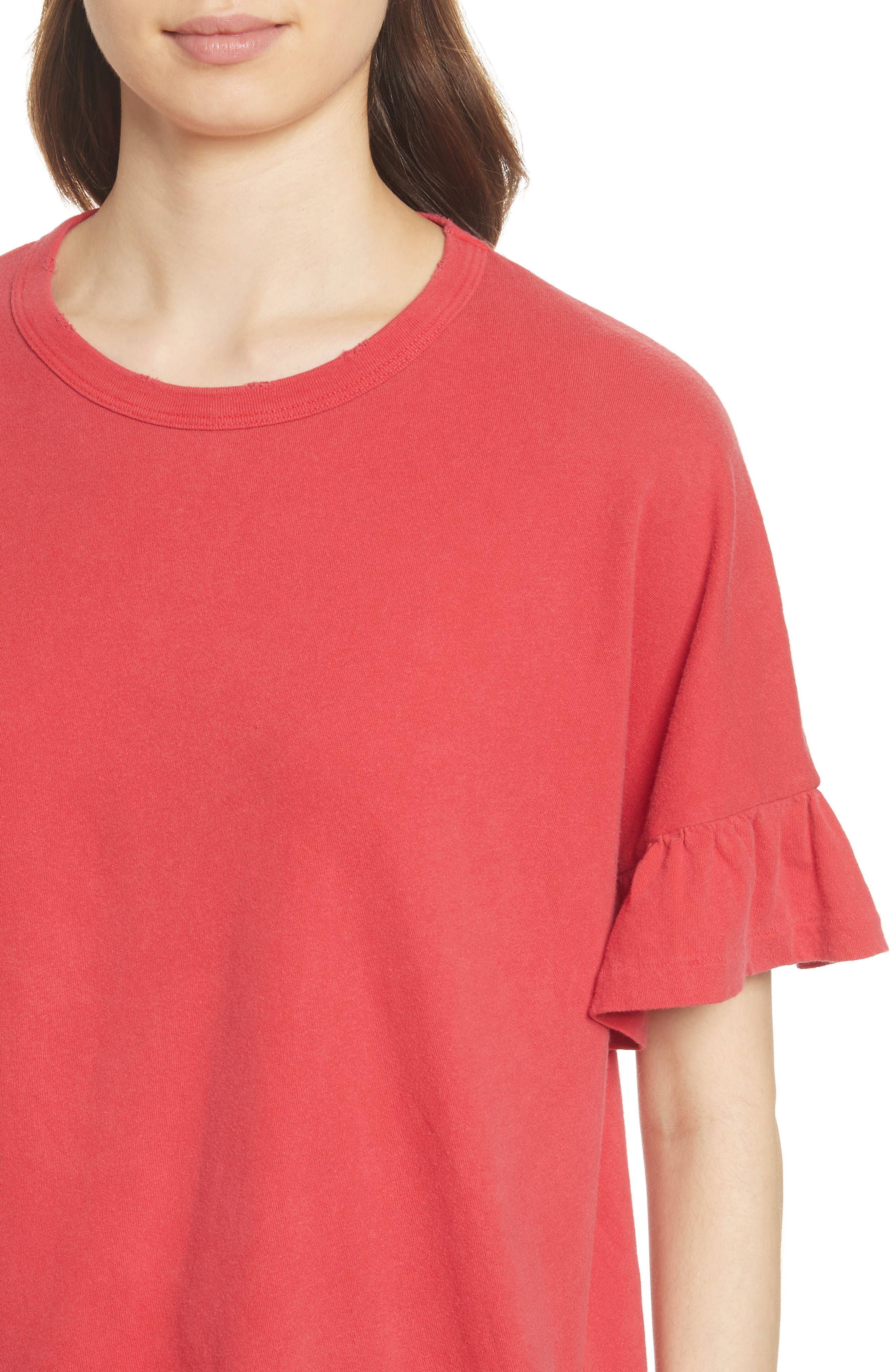 The Ruffle Sleeve Tee,                             Alternate thumbnail 4, color,                             600