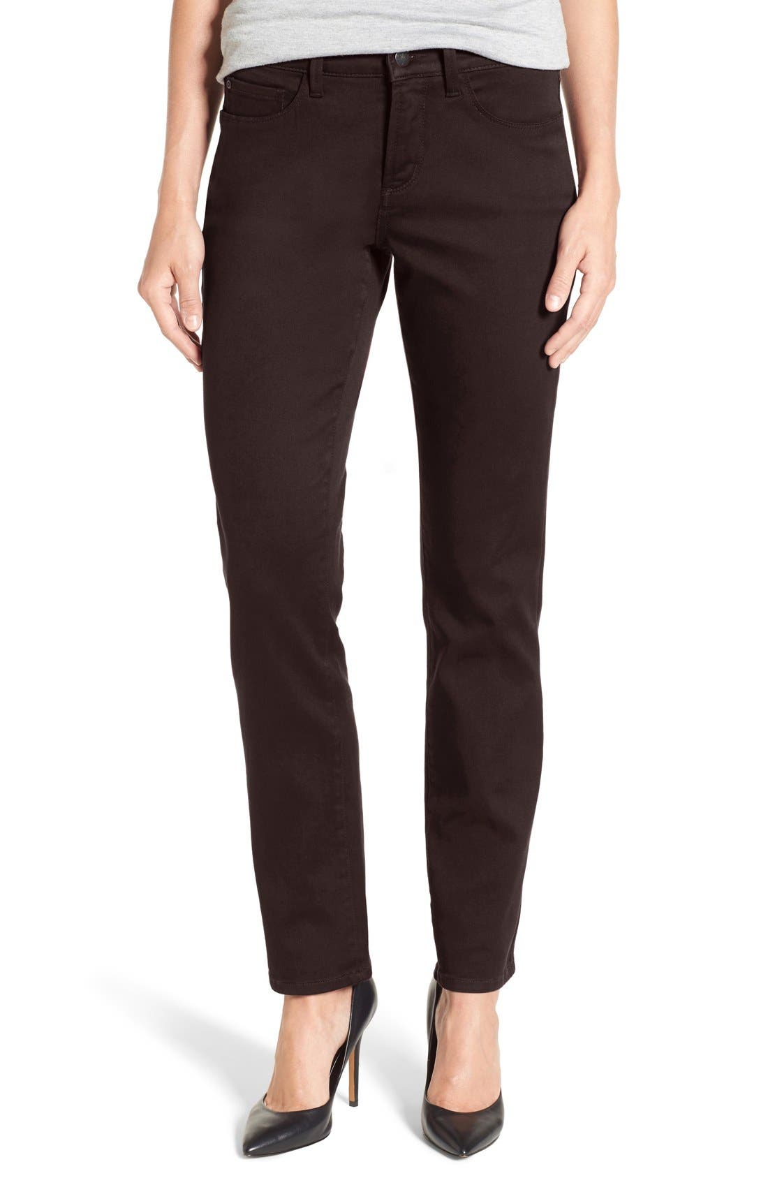'Sheri' Stretch Twill Slim Leg Pants,                             Main thumbnail 2, color,