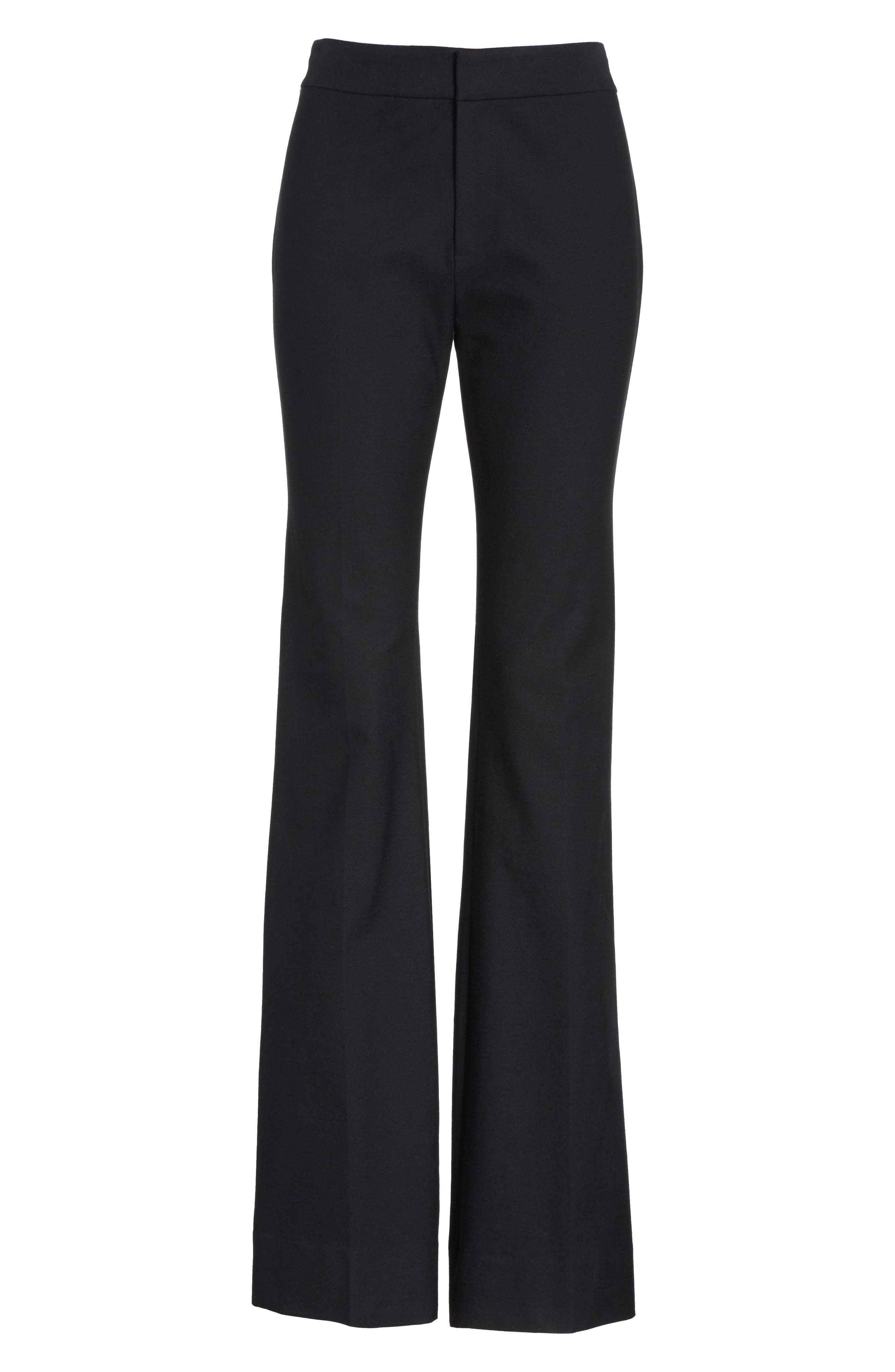 Flare Leg Stretch Cotton Pants,                             Alternate thumbnail 6, color,                             001
