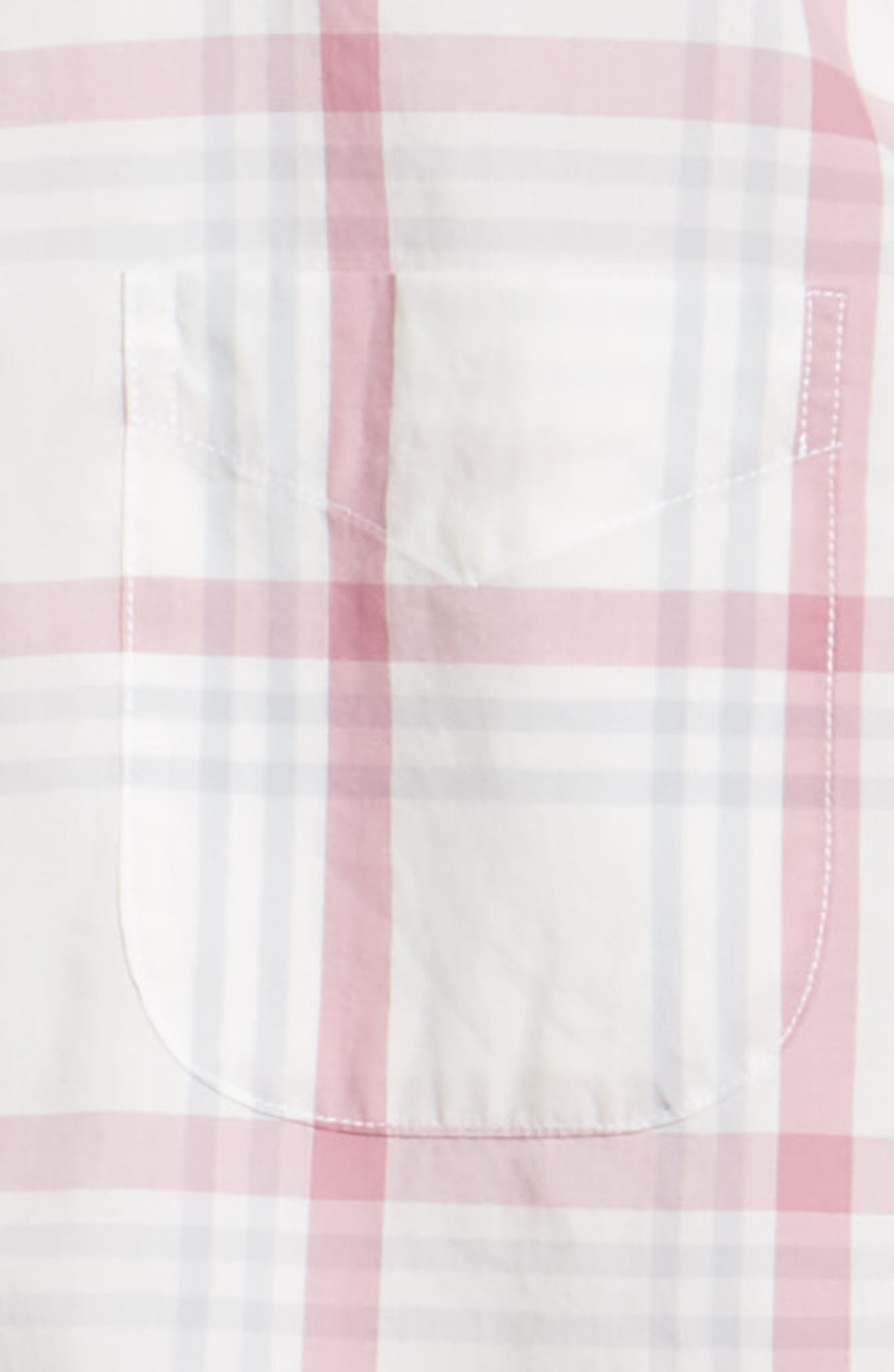BONOBOS,                             Summerweight Slim Fit Plaid Sport Shirt,                             Alternate thumbnail 6, color,                             100