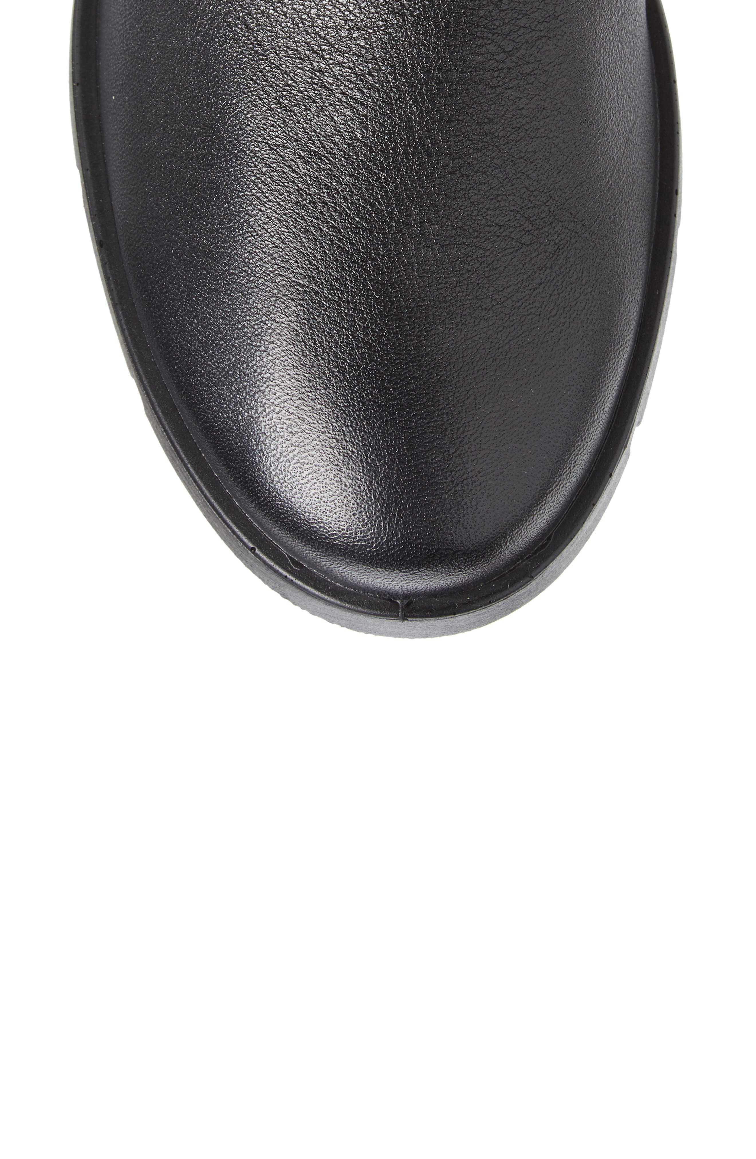 Bella Water Resistant Tall Boot,                             Alternate thumbnail 5, color,                             BLACK LEATHER