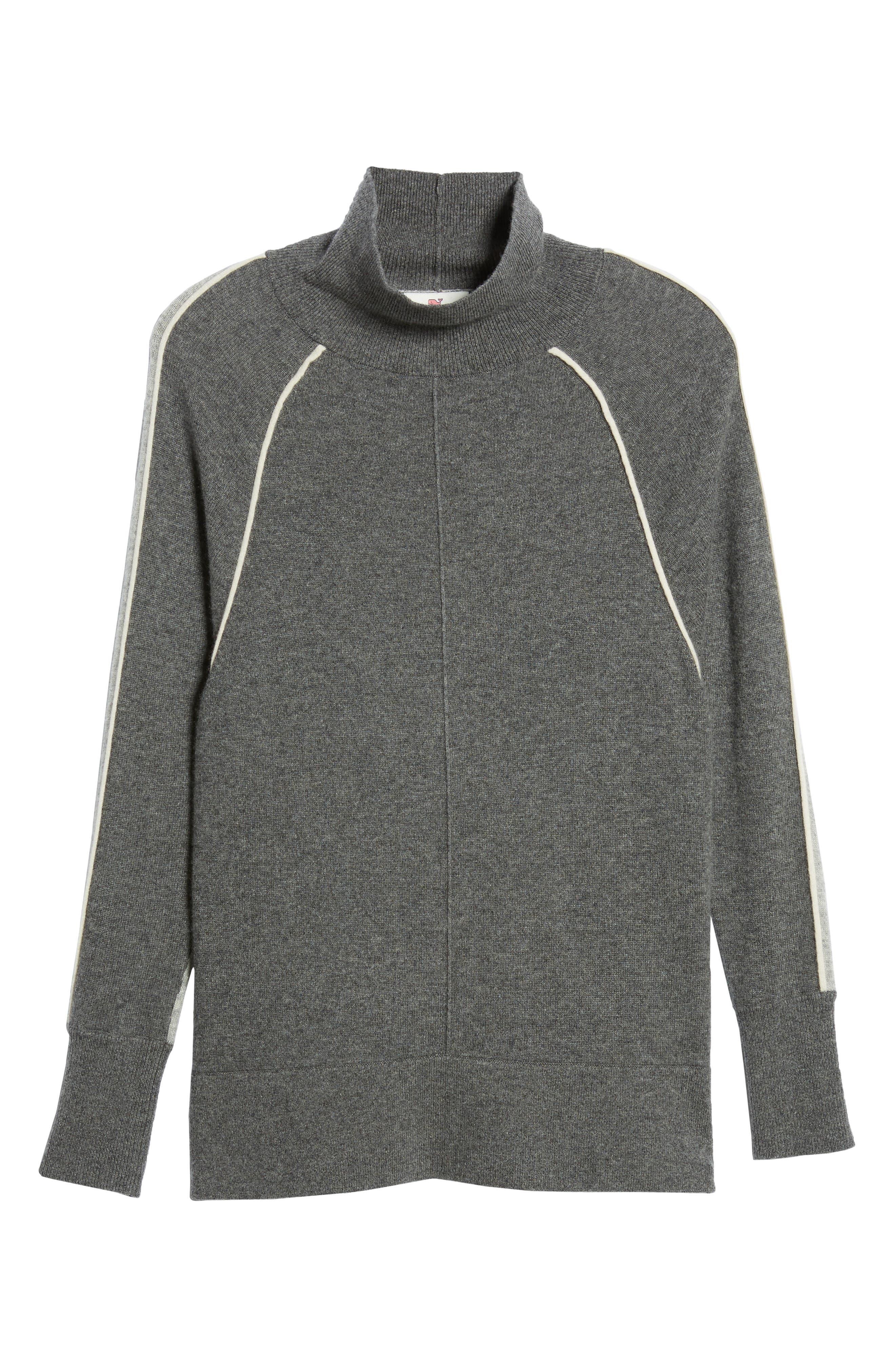 Raglan Sleeve Cashmere Turtleneck,                             Alternate thumbnail 6, color,                             061