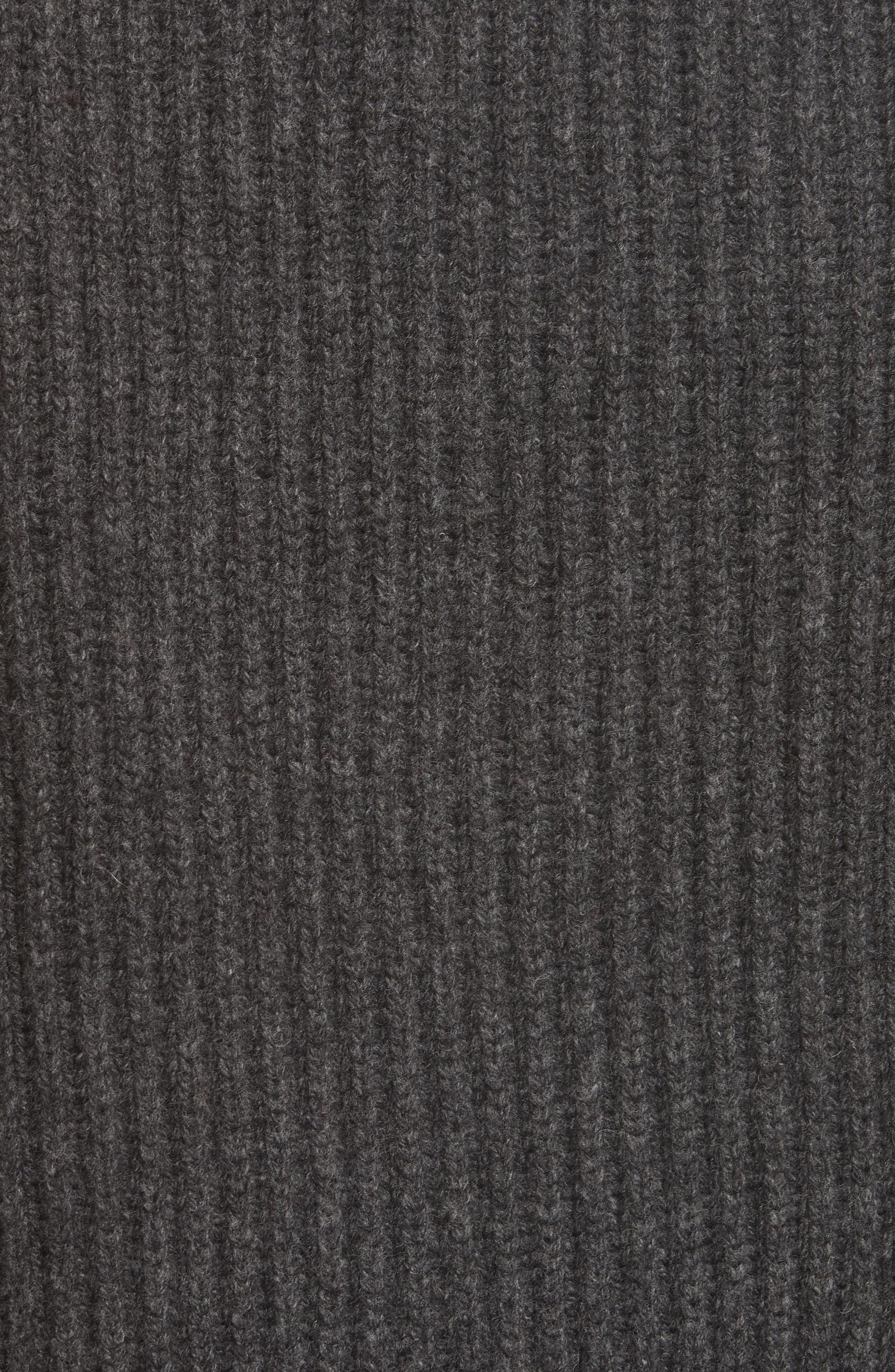 Ribbed Oversized Sweater,                             Alternate thumbnail 5, color,                             DARK GREY