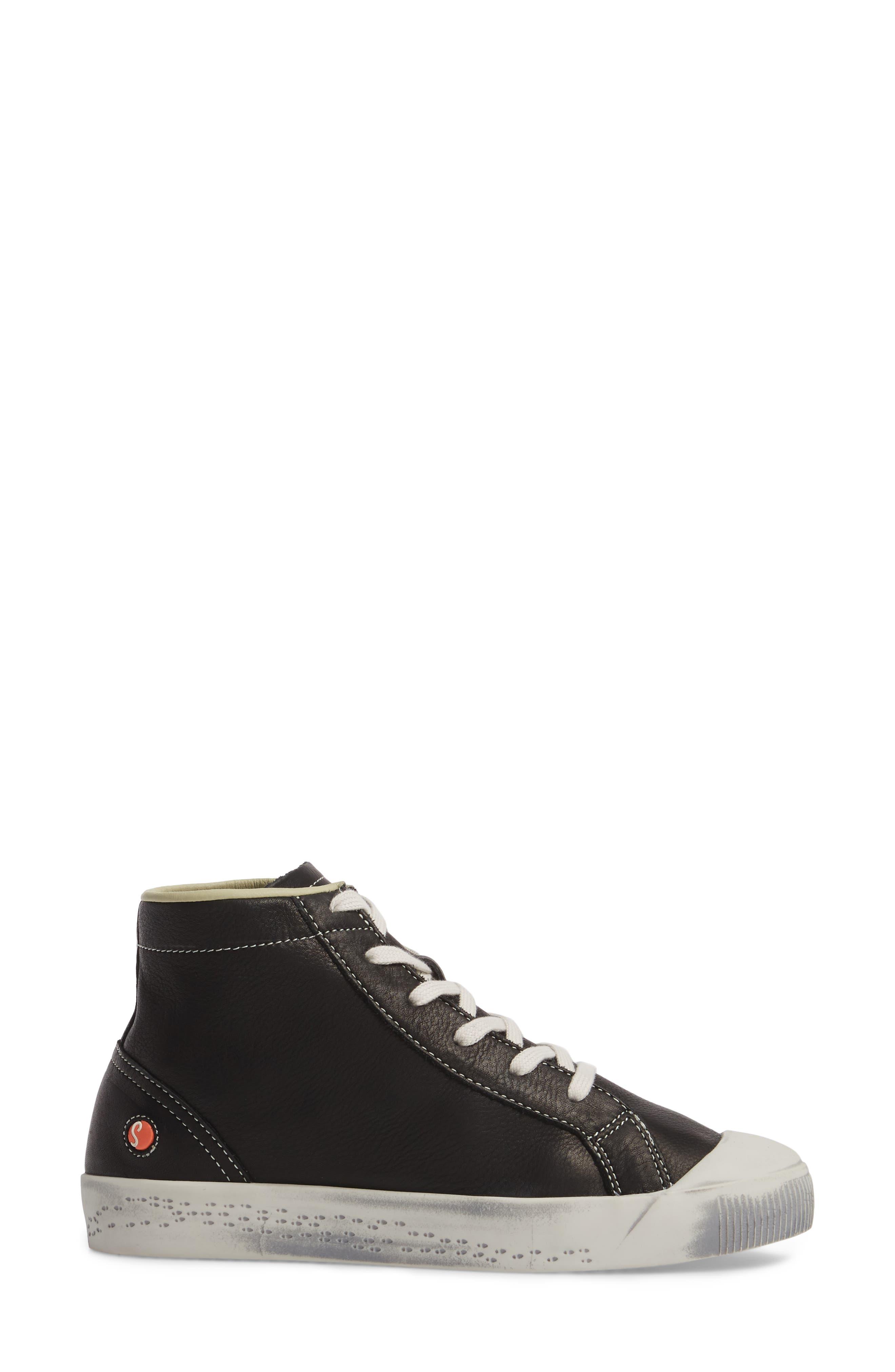Kip High Top Sneaker,                             Alternate thumbnail 3, color,                             001