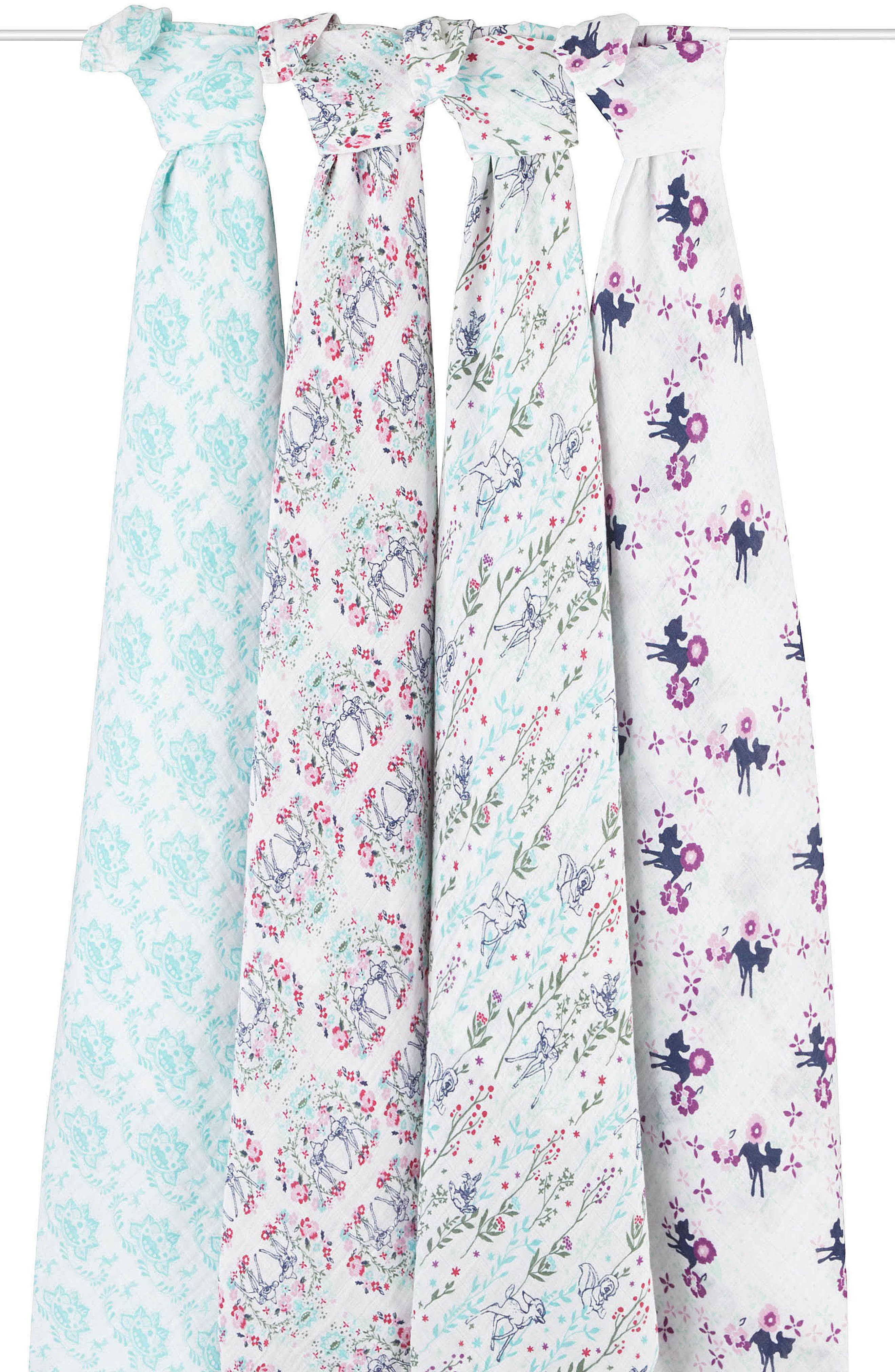 Set of 4 Disney Swaddles,                             Alternate thumbnail 5, color,                             BAMBI