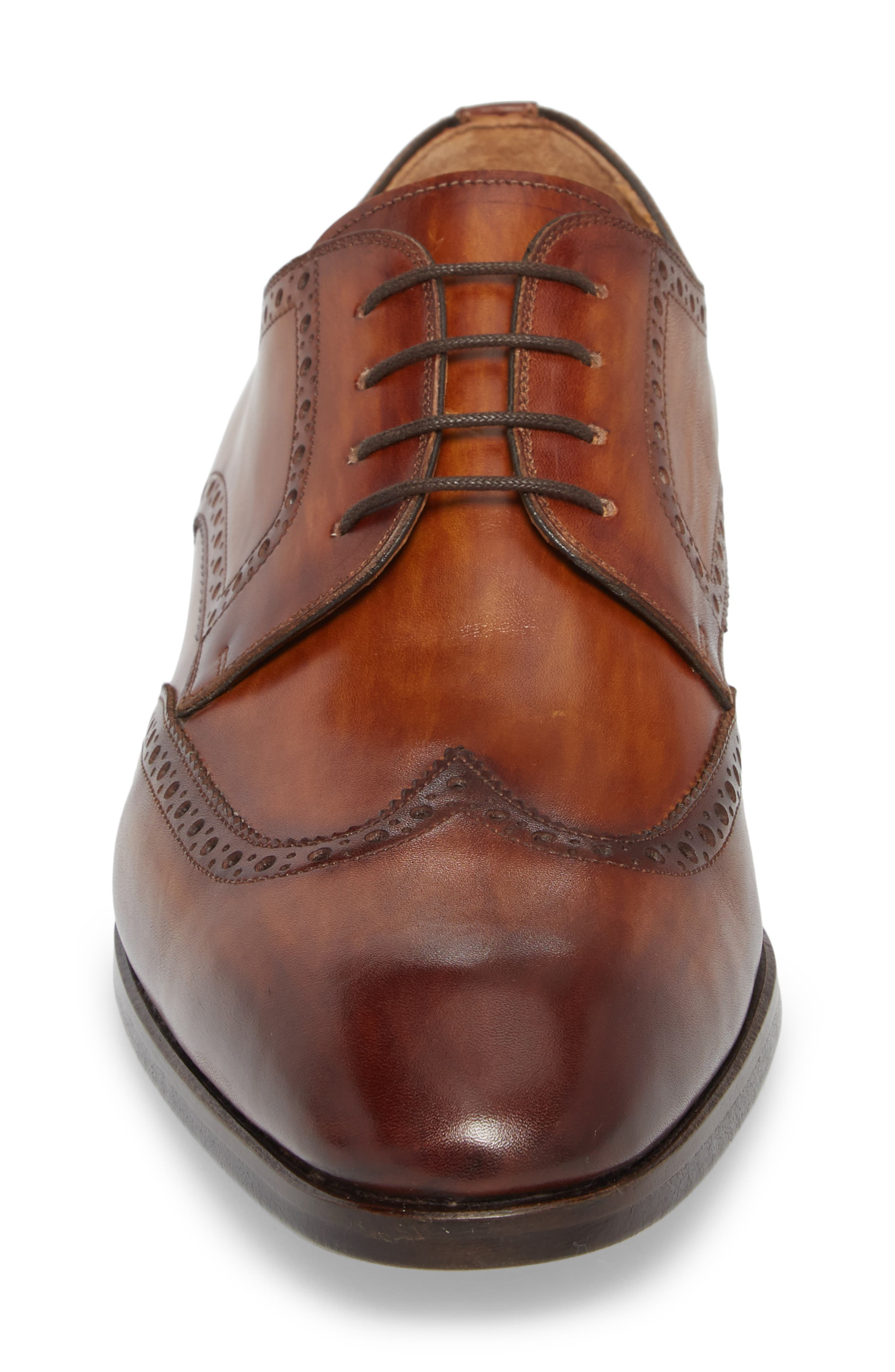Bosco Wingtip Derby,                             Alternate thumbnail 4, color,                             BROWN LEATHER