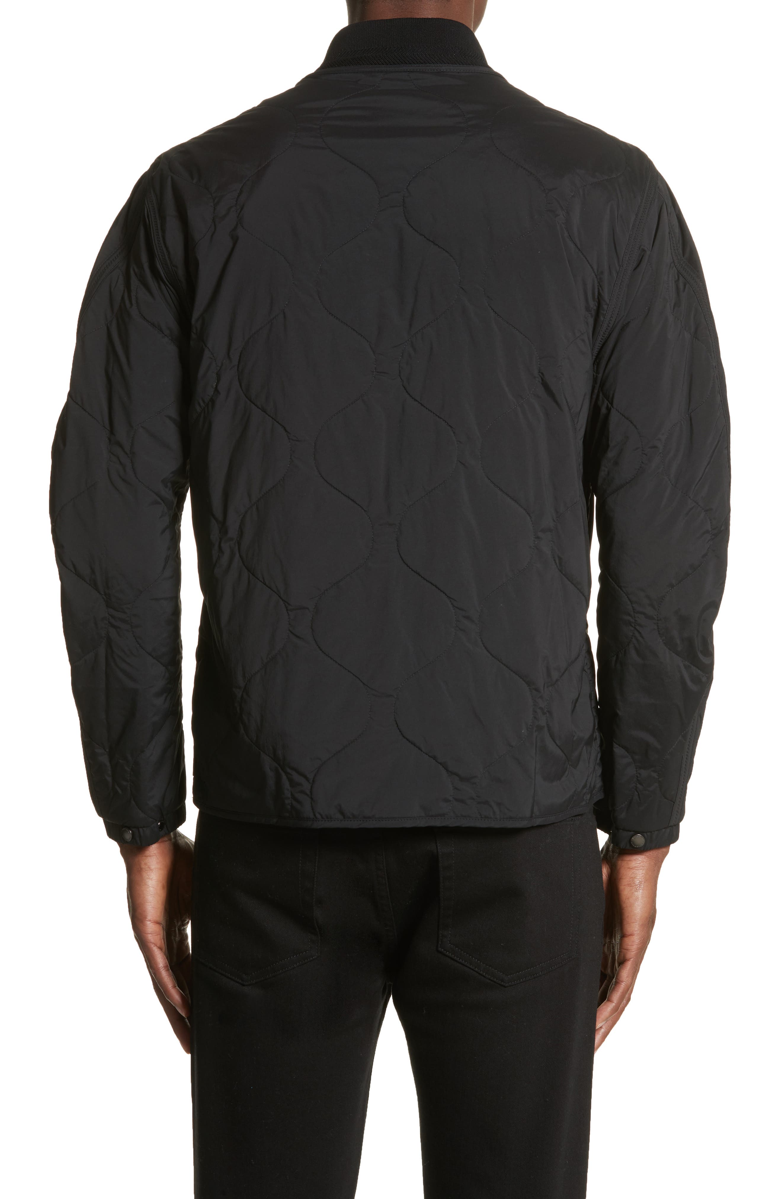 Marshall Quilted Tech Bomber Jacket,                             Alternate thumbnail 2, color,                             001