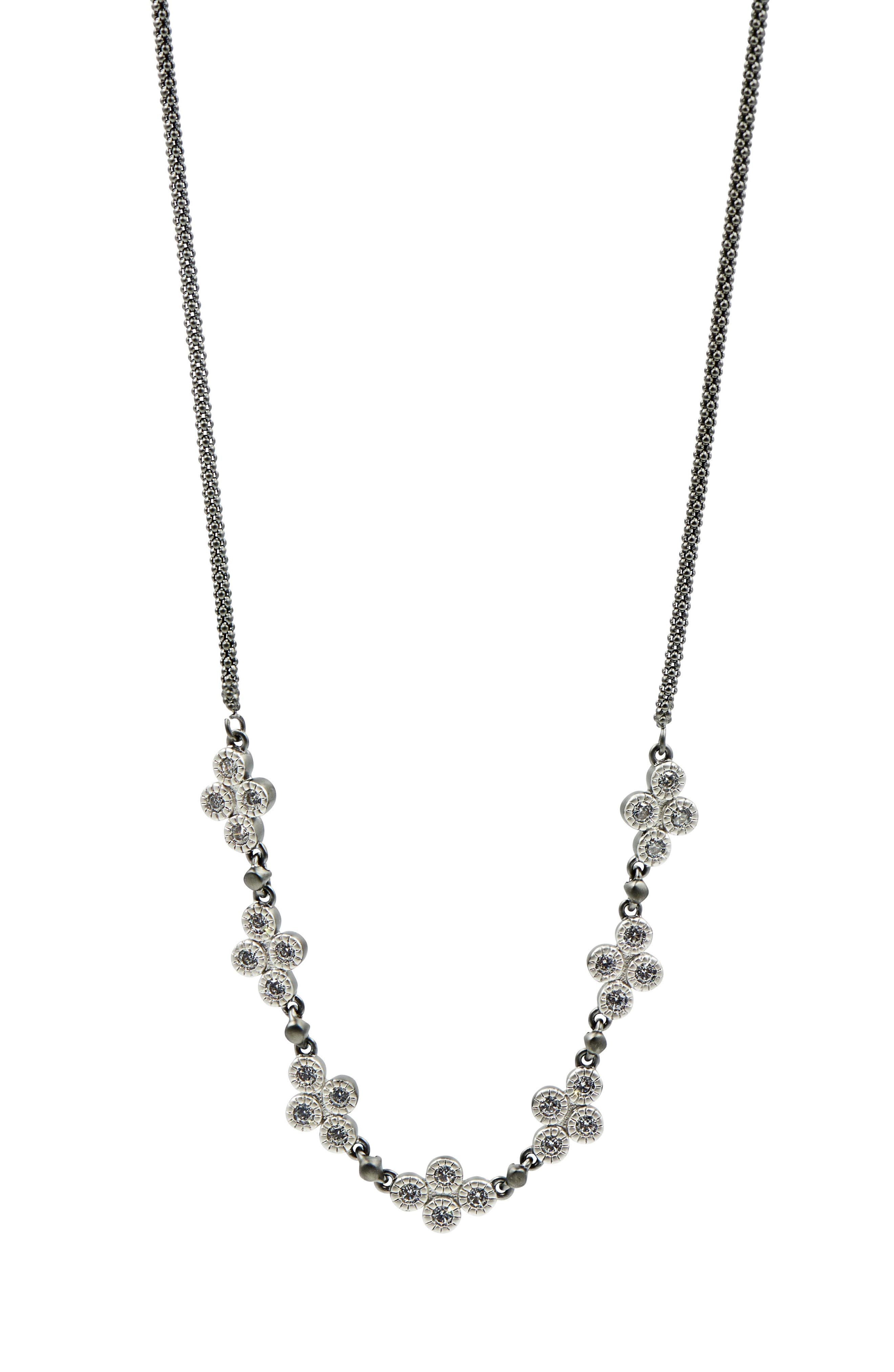 FREIDA ROTHMAN,                             Industrial Finish Chain Necklace,                             Main thumbnail 1, color,                             BLACK/ SILVER