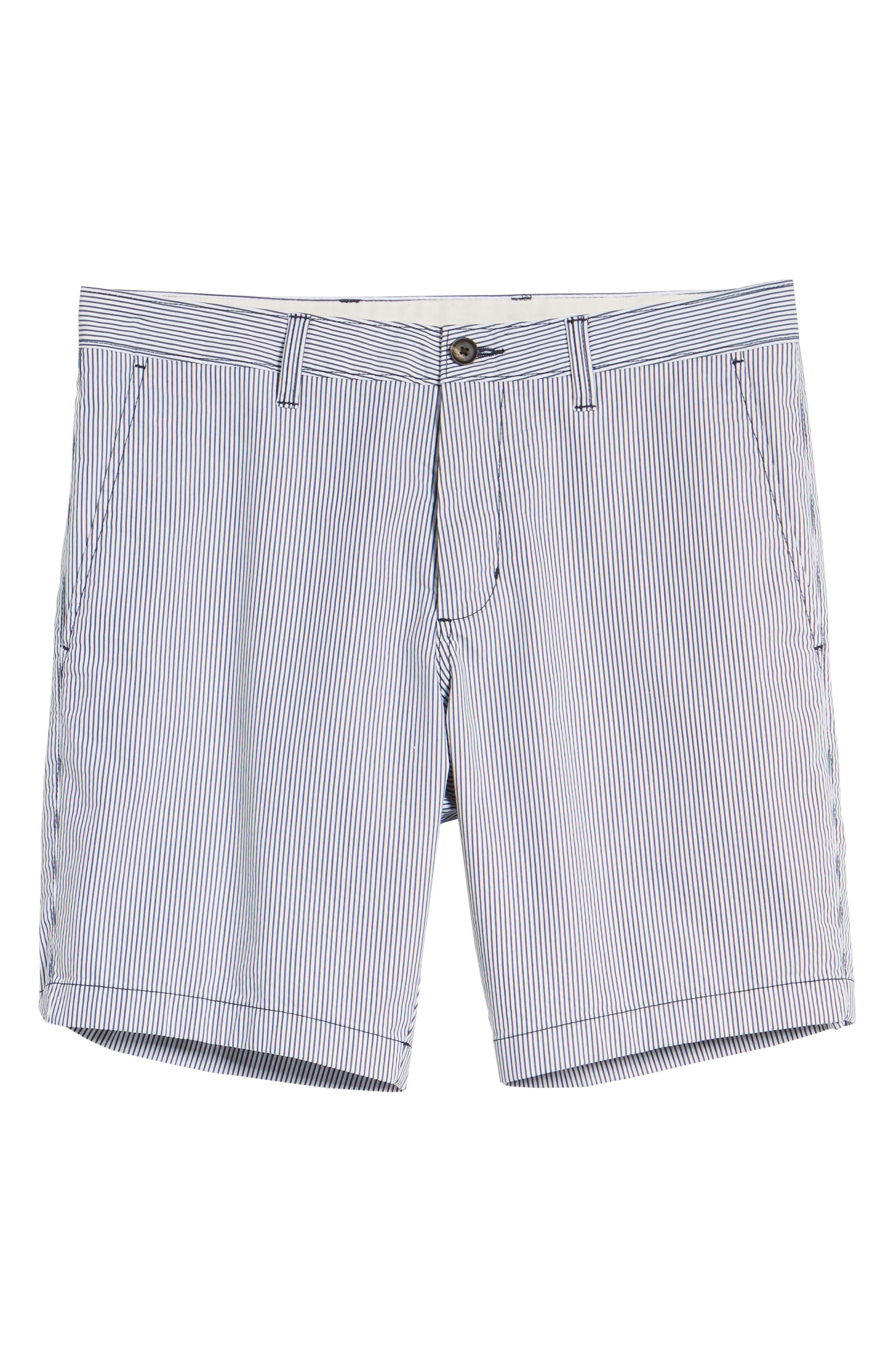 Ballard Slim Fit Seersucker Shorts,                             Alternate thumbnail 6, color,                             410