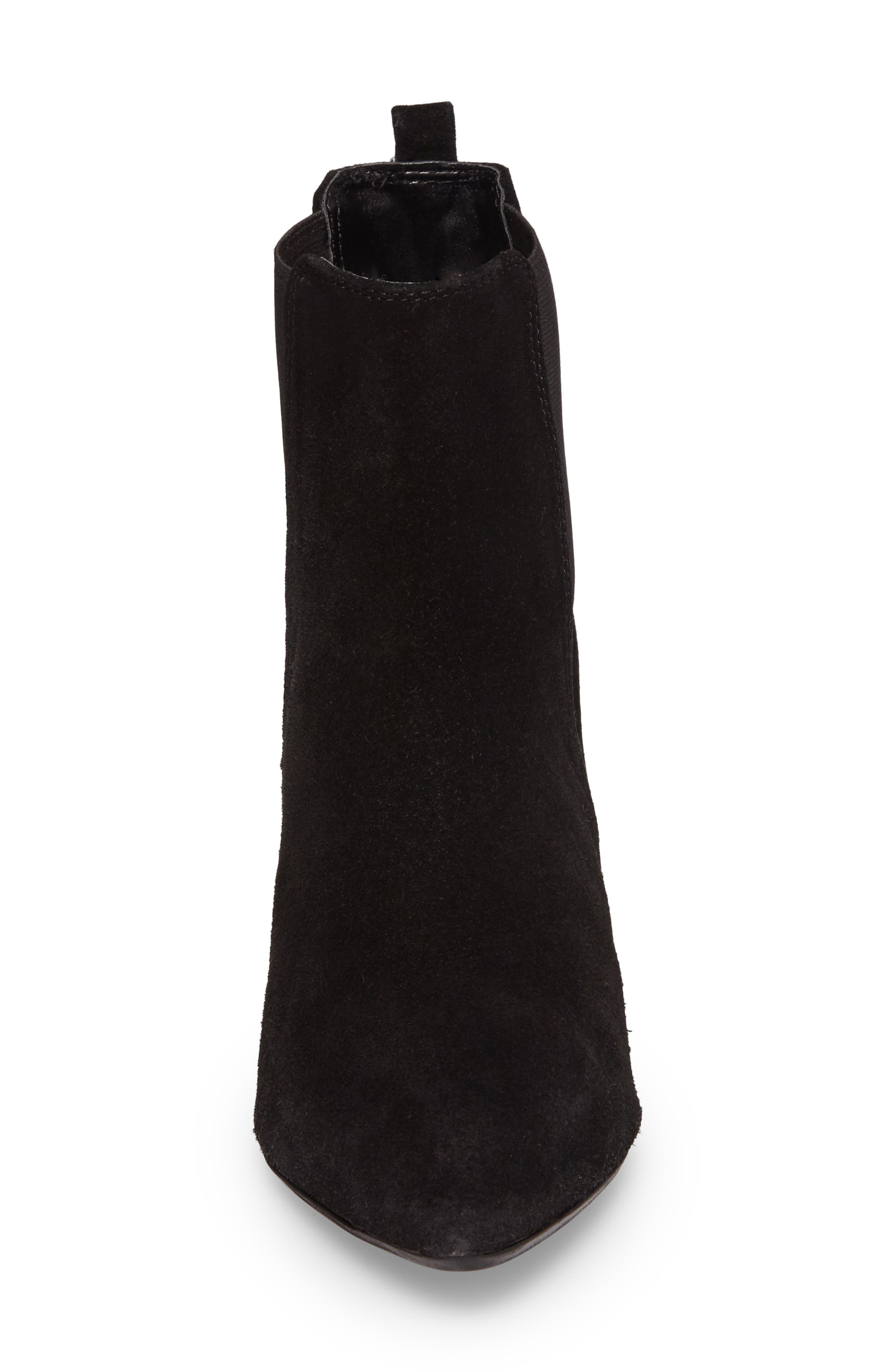 Bounty Suede Pointy Toe Bootie,                             Alternate thumbnail 4, color,