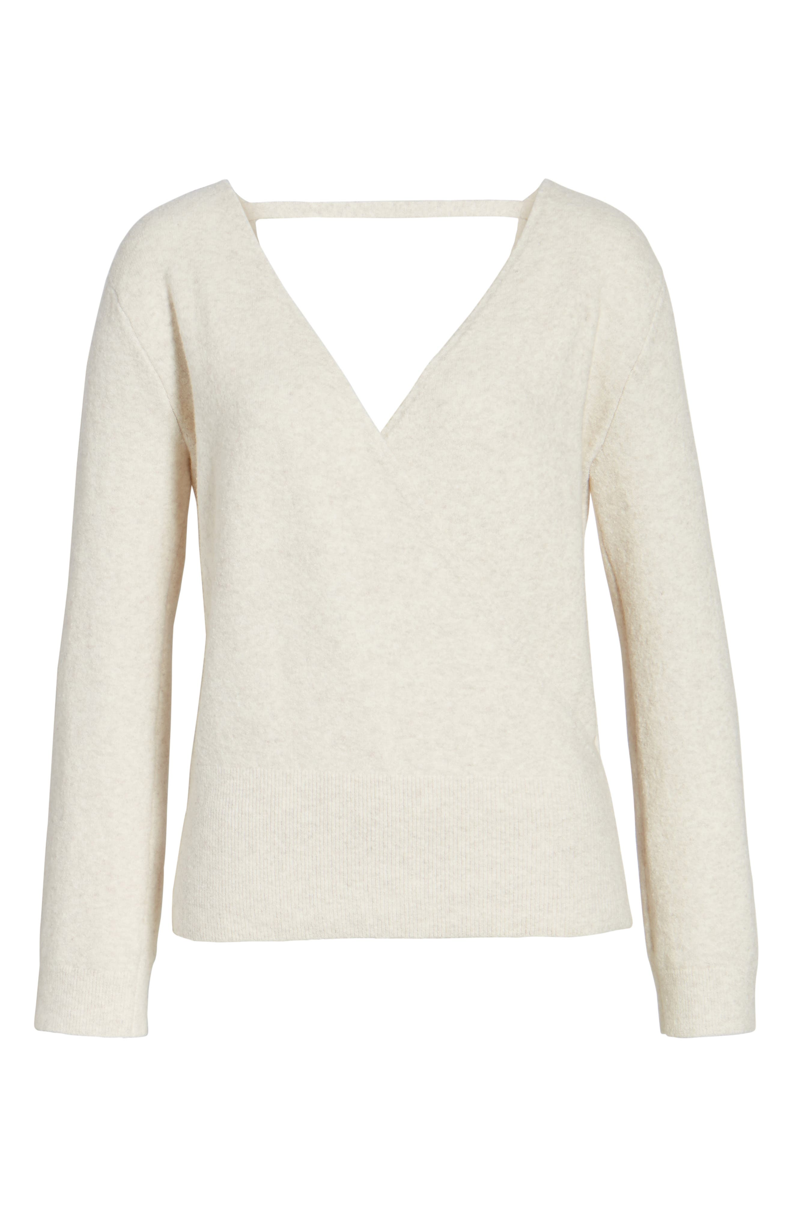 Faux Wrap Sweater,                             Alternate thumbnail 17, color,