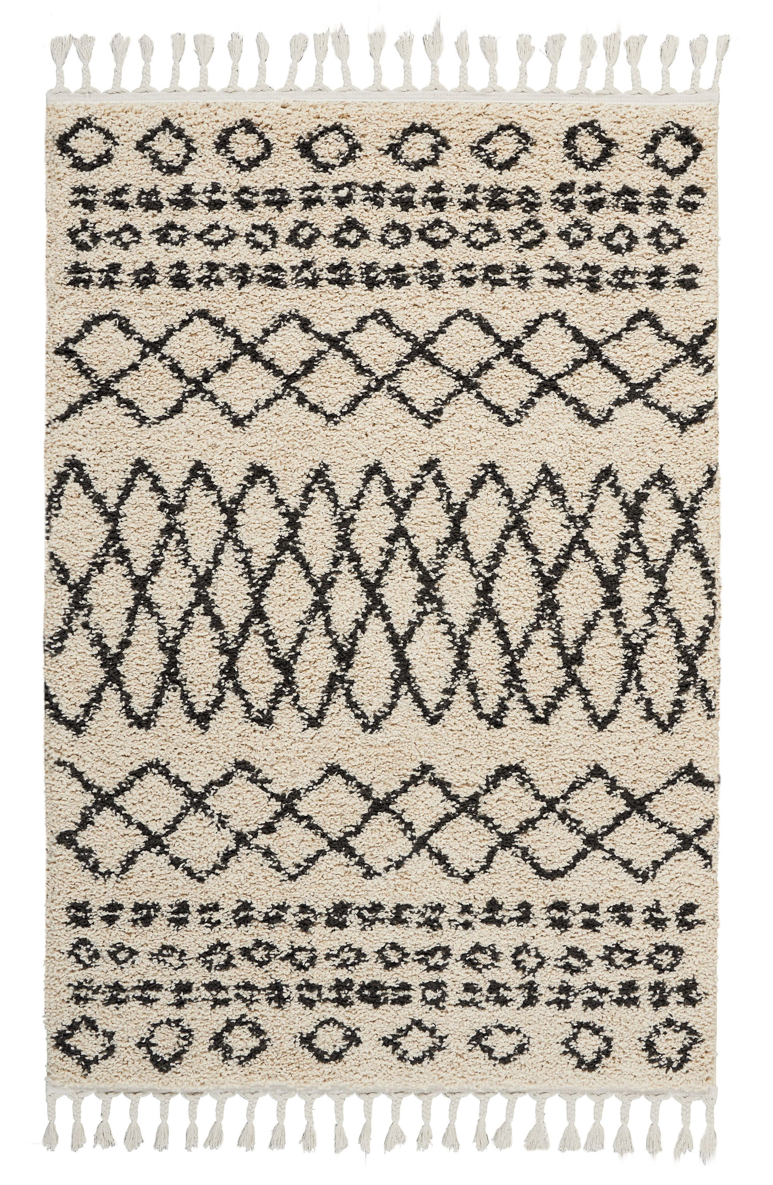 Marrakesh Shag Rug,                         Main,                         color, CREAM