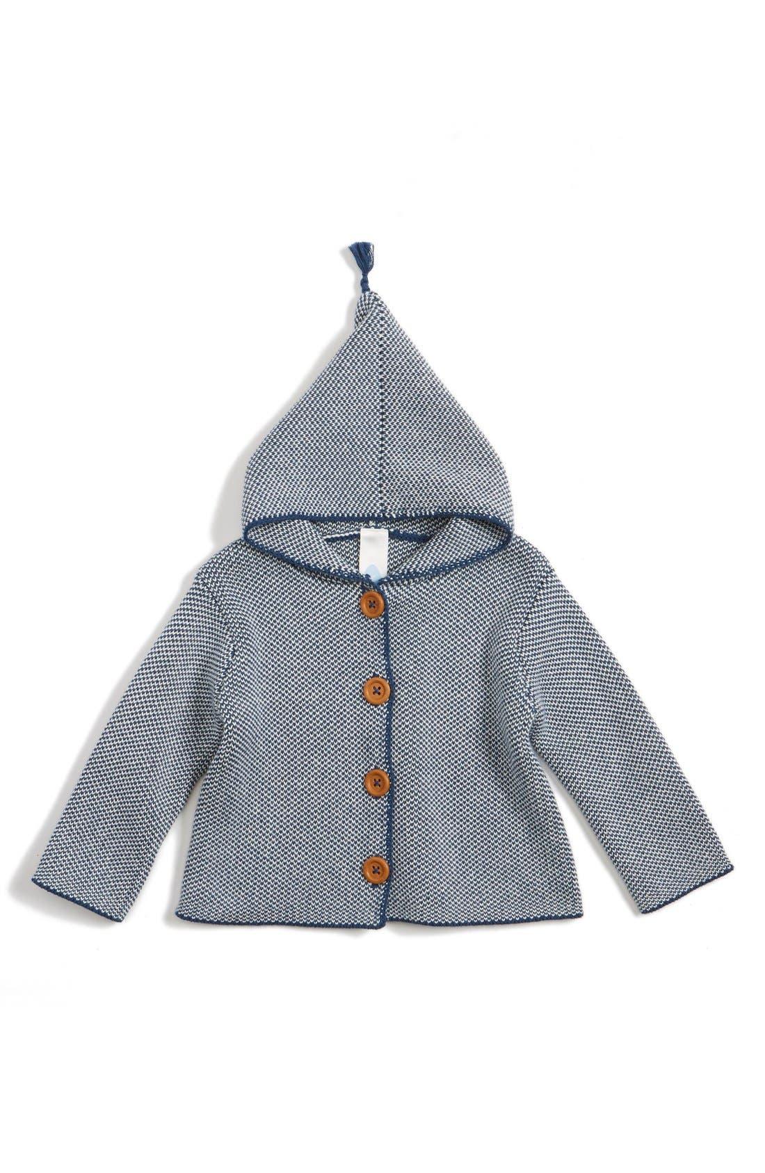 Organic Cotton Hooded Cardigan,                             Main thumbnail 1, color,                             410