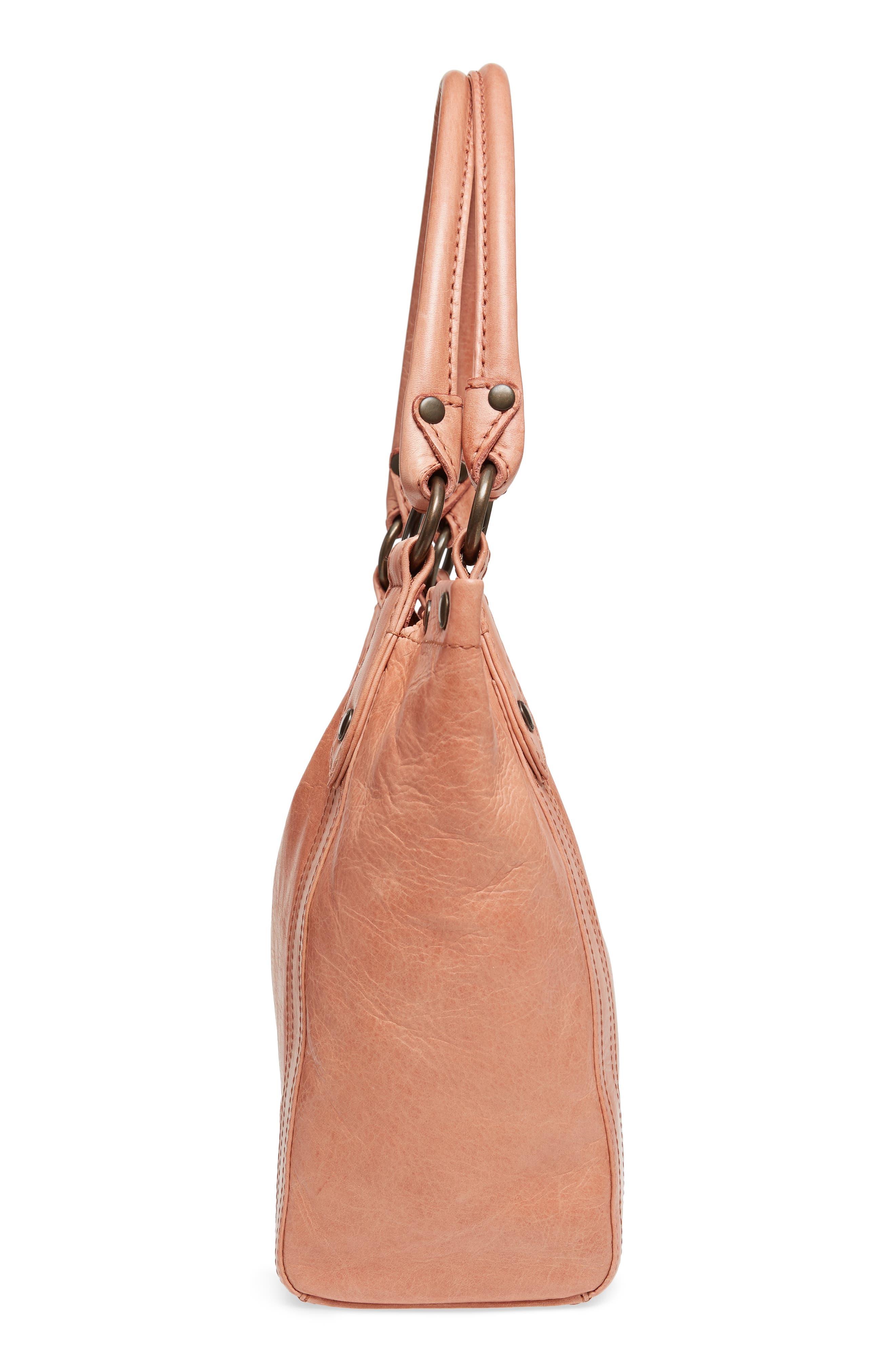 Melissa Leather Shoulder Bag,                             Alternate thumbnail 5, color,                             DUSTY ROSE
