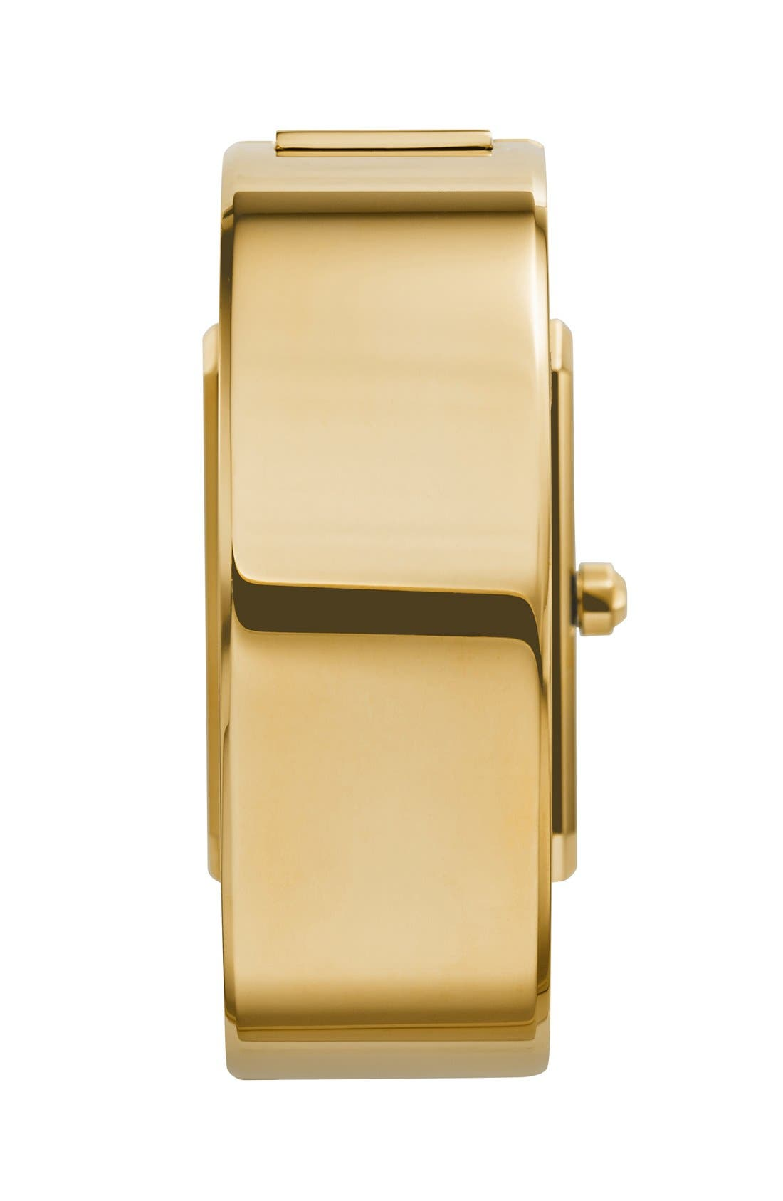 TORY BURCH,                             'Robinson' Rectangle Case Bangle Watch, 25mm x 38mm,                             Alternate thumbnail 4, color,                             710
