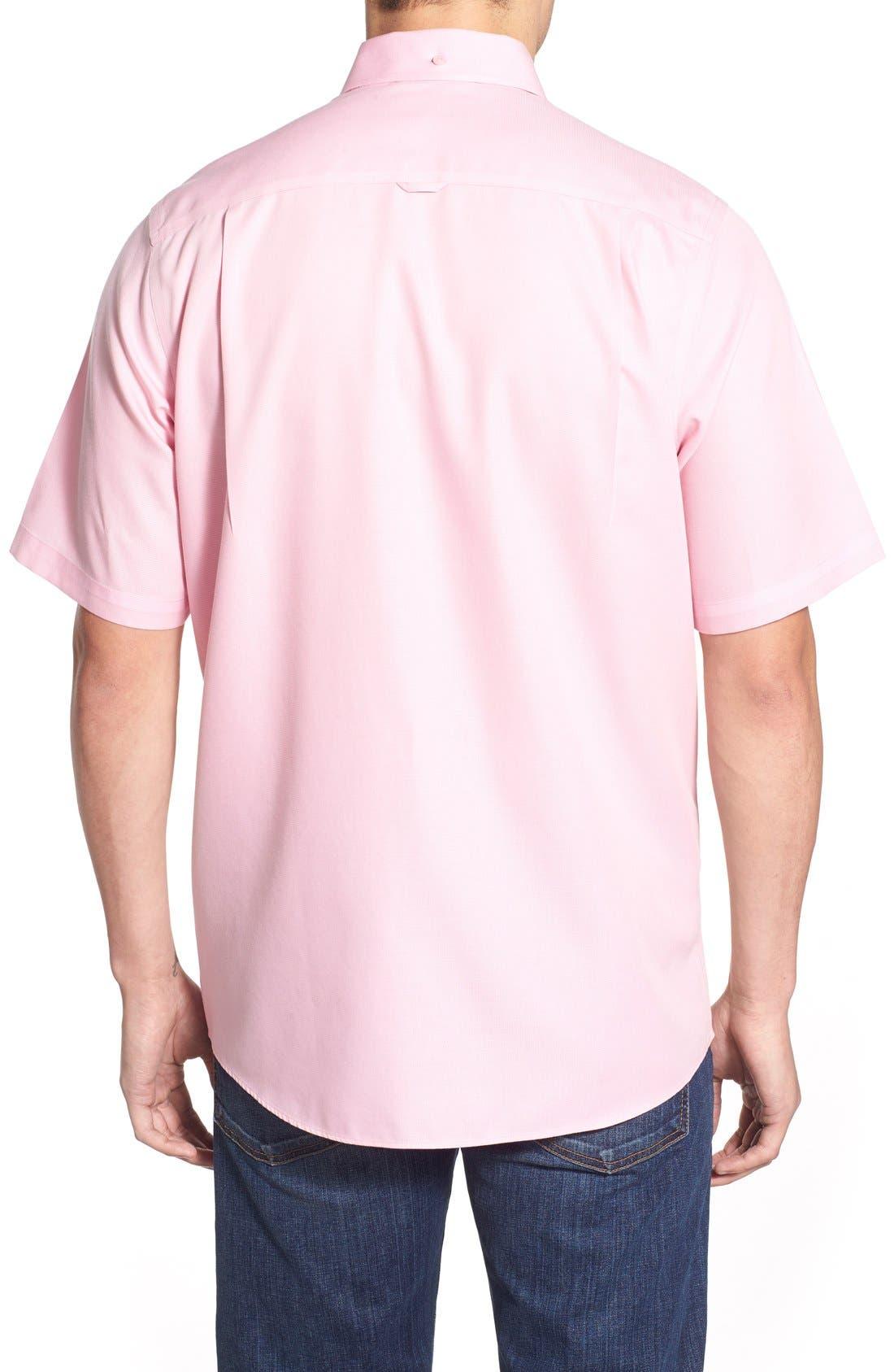'Classic' Smartcare<sup>™</sup> Regular Fit Short Sleeve Cotton Sport Shirt,                             Alternate thumbnail 79, color,