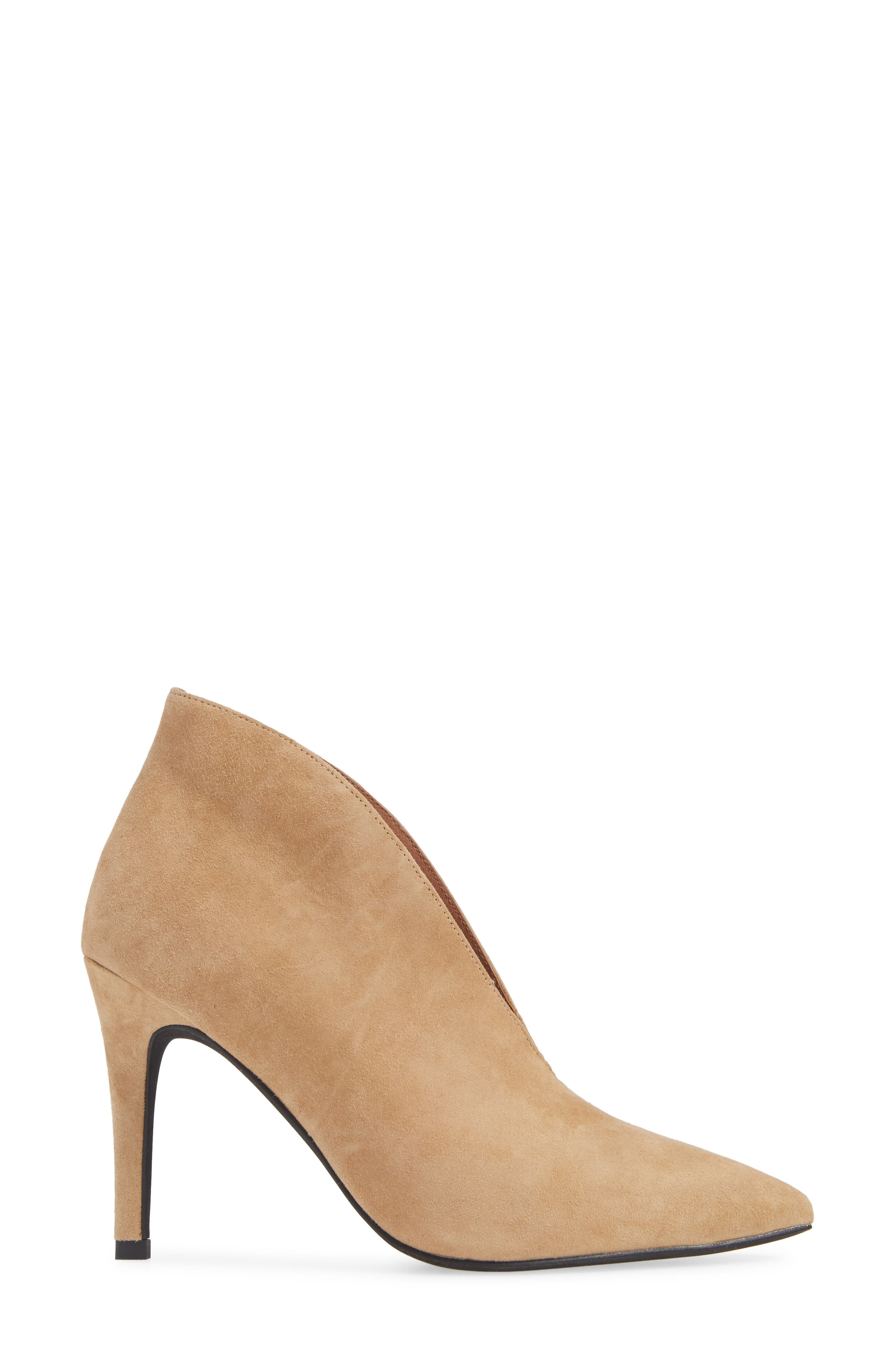Electron Bootie,                             Alternate thumbnail 3, color,                             NUDE SUEDE
