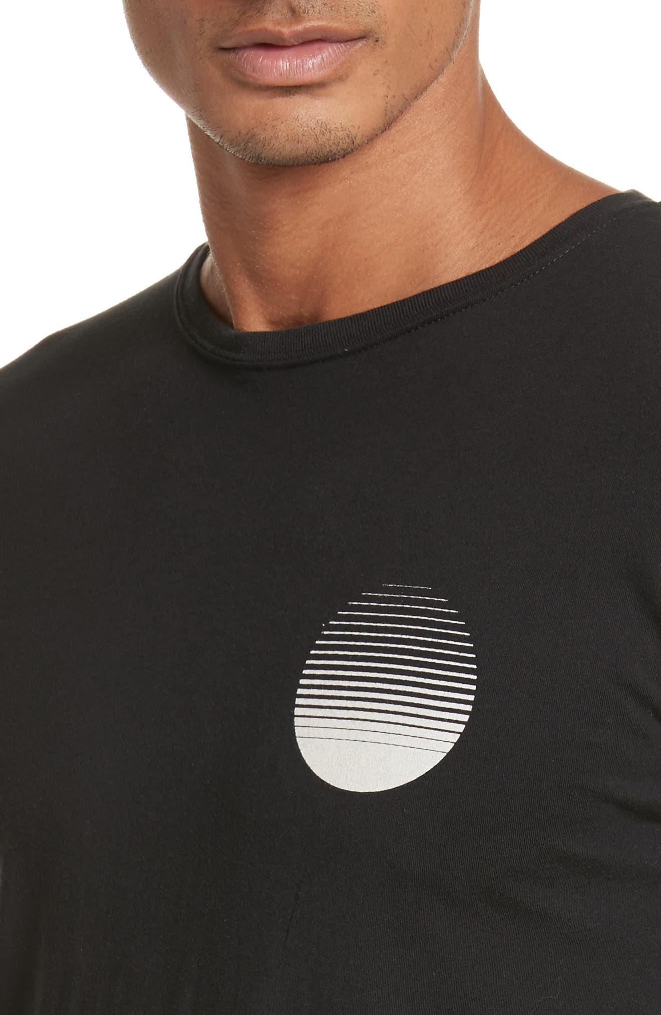 Sunset Graphic Long Sleeve T-Shirt,                             Alternate thumbnail 4, color,                             001