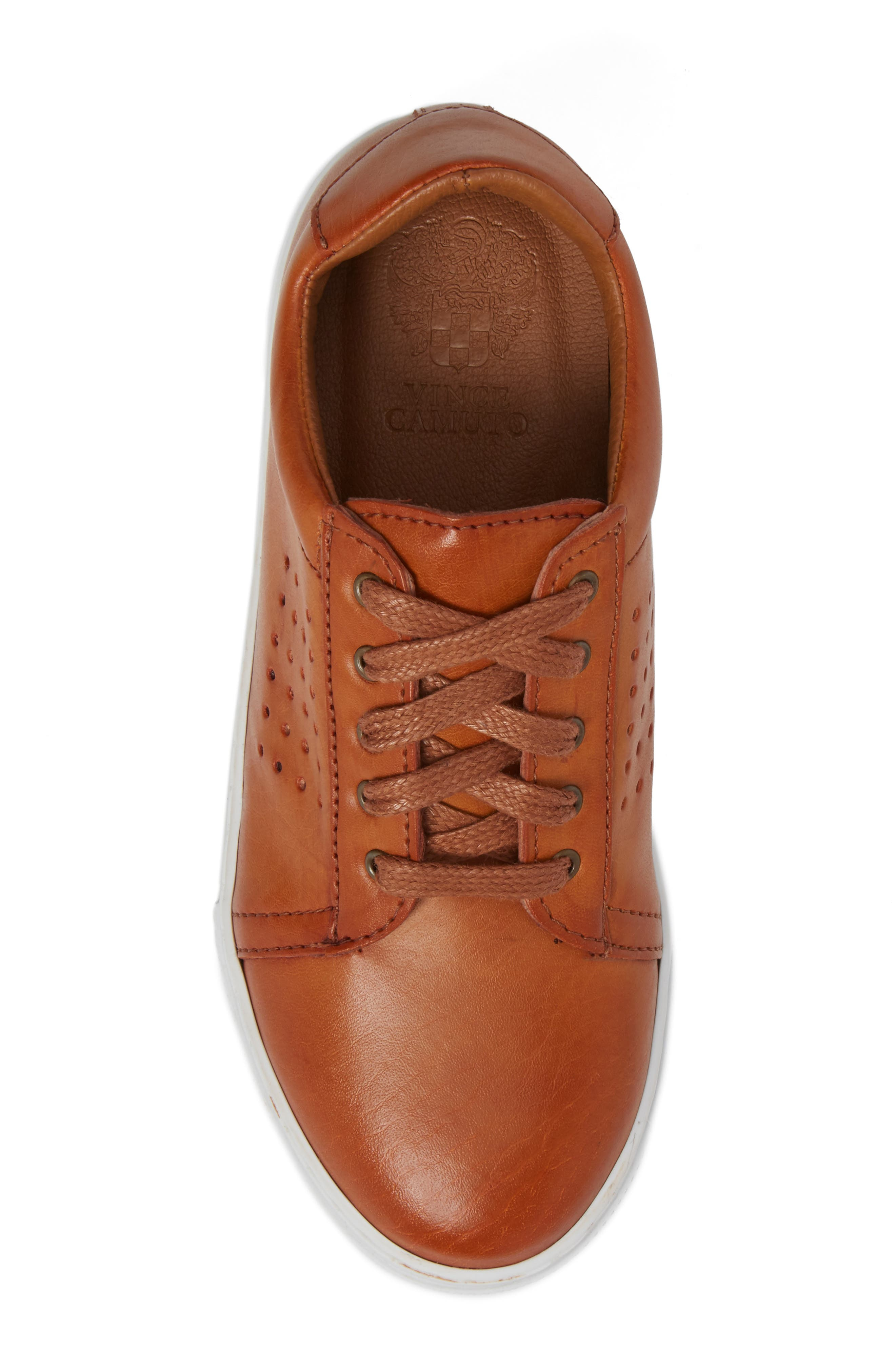 Grafte Perforated Sneaker,                             Alternate thumbnail 5, color,                             NATURALE