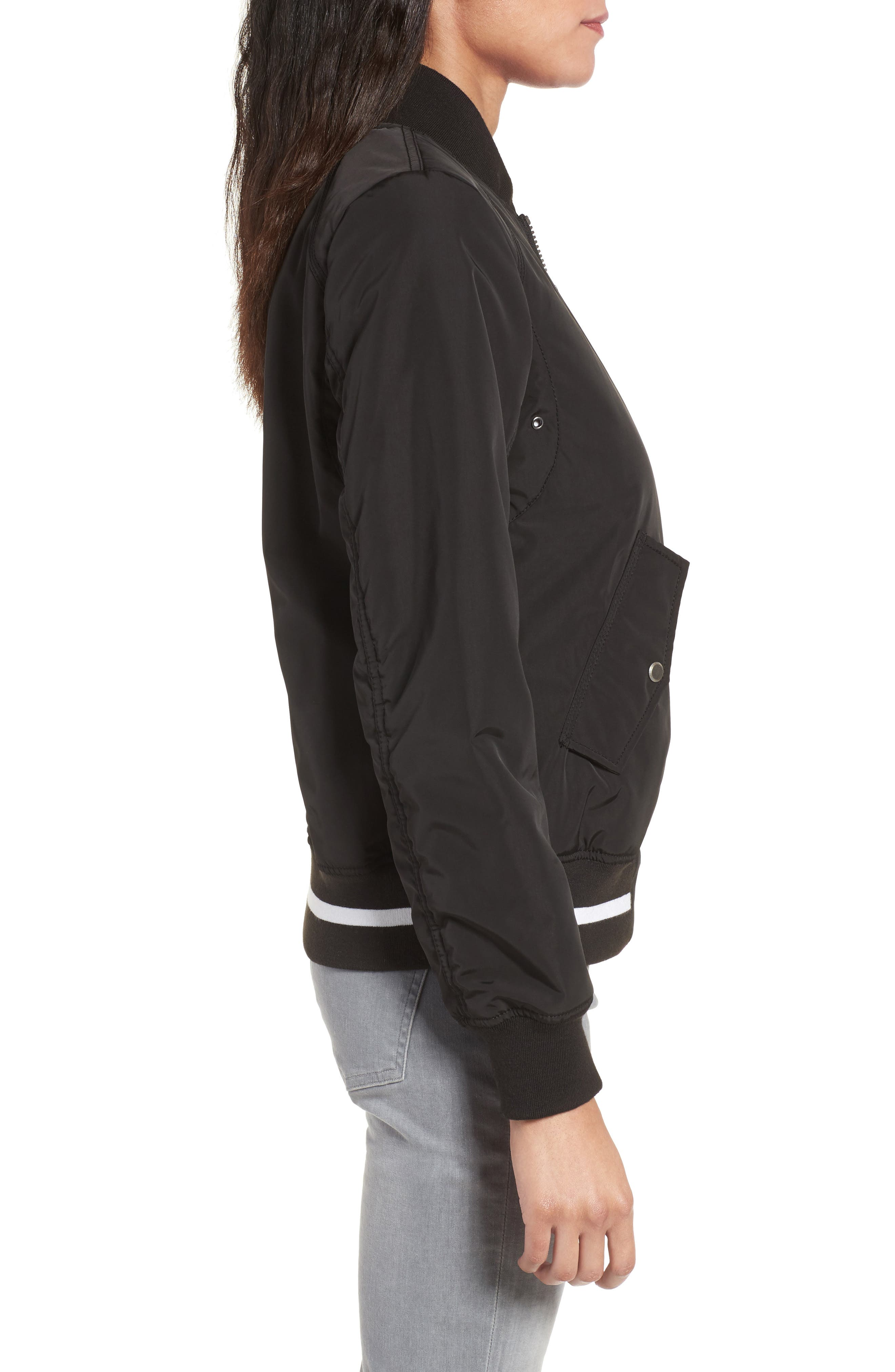 Foster Nylon Twill Bomber Jacket,                             Alternate thumbnail 10, color,