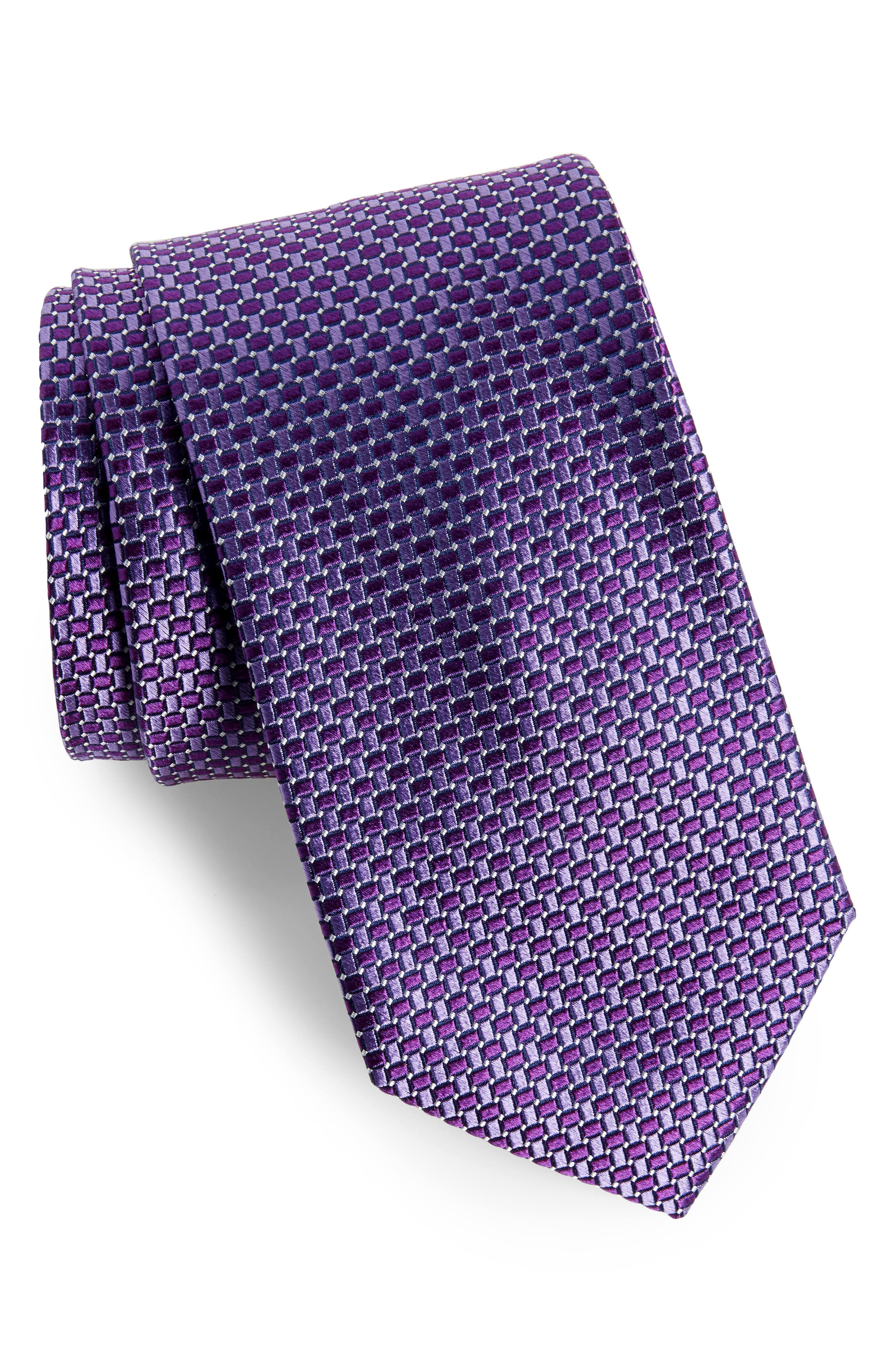 Basketweave Silk Tie,                             Main thumbnail 4, color,