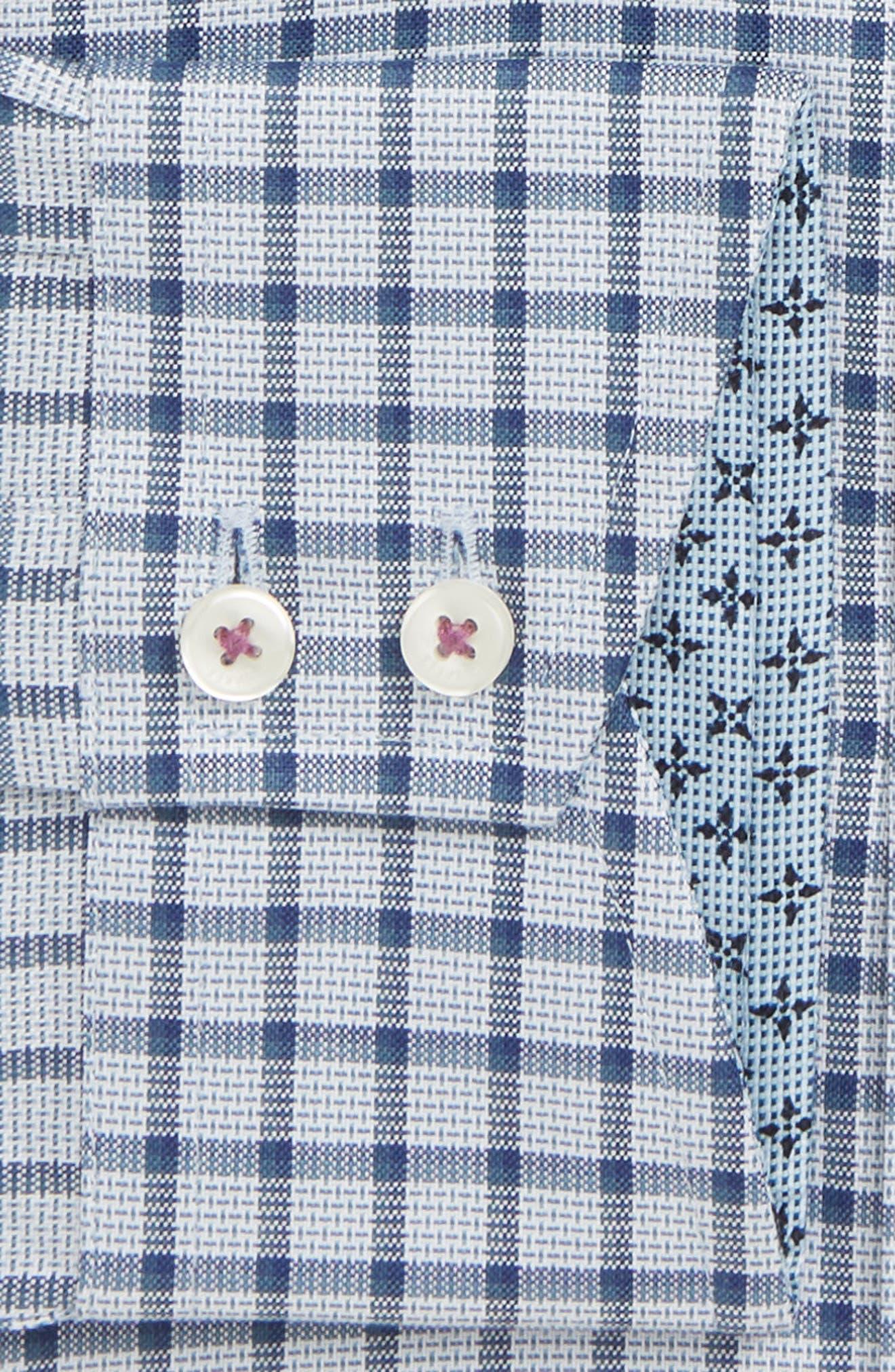 Ambrer Trim Fit Check Dress Shirt,                             Alternate thumbnail 2, color,                             GREY