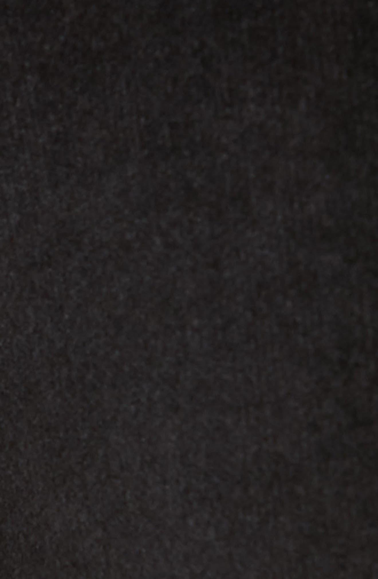 High Waist Velvet Skinny Pants,                             Alternate thumbnail 5, color,                             BLACK