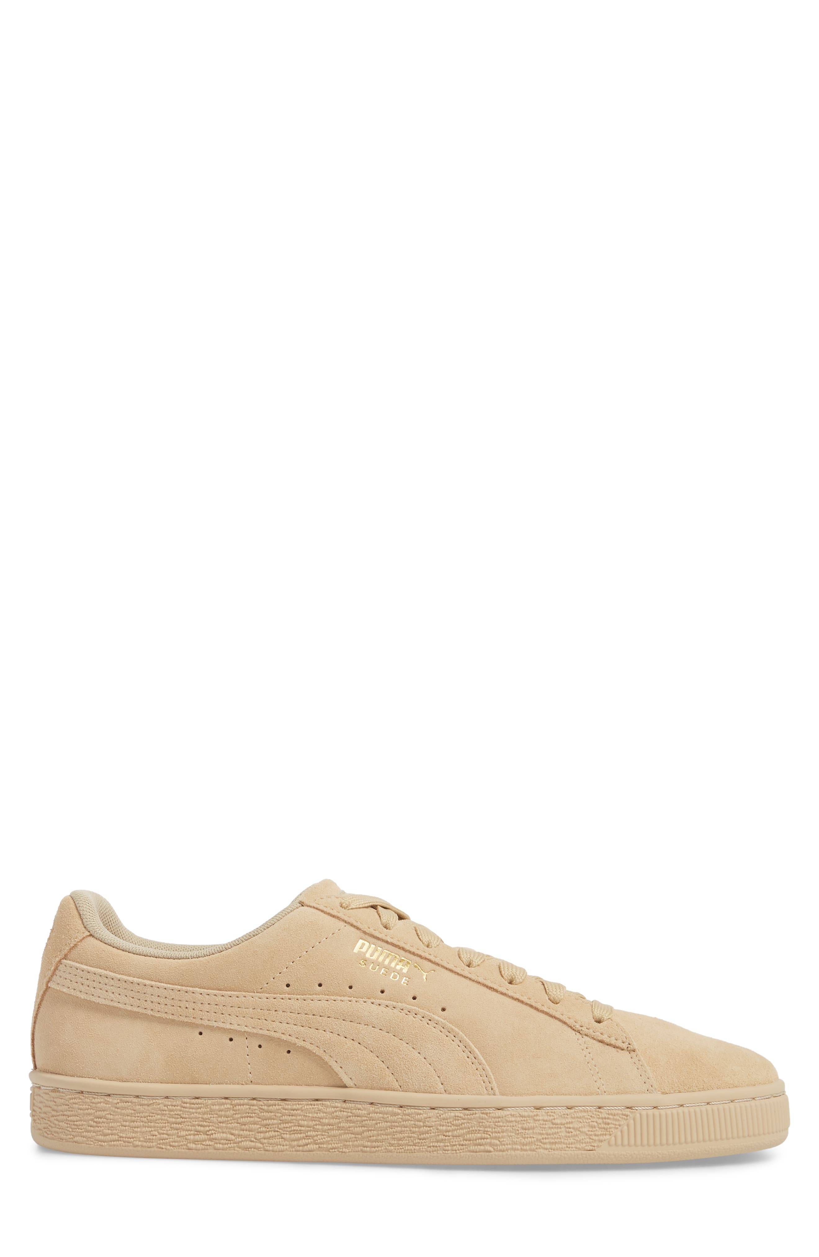 Suede Classic Tonal Sneaker,                             Alternate thumbnail 3, color,                             PEBBLE SUEDE