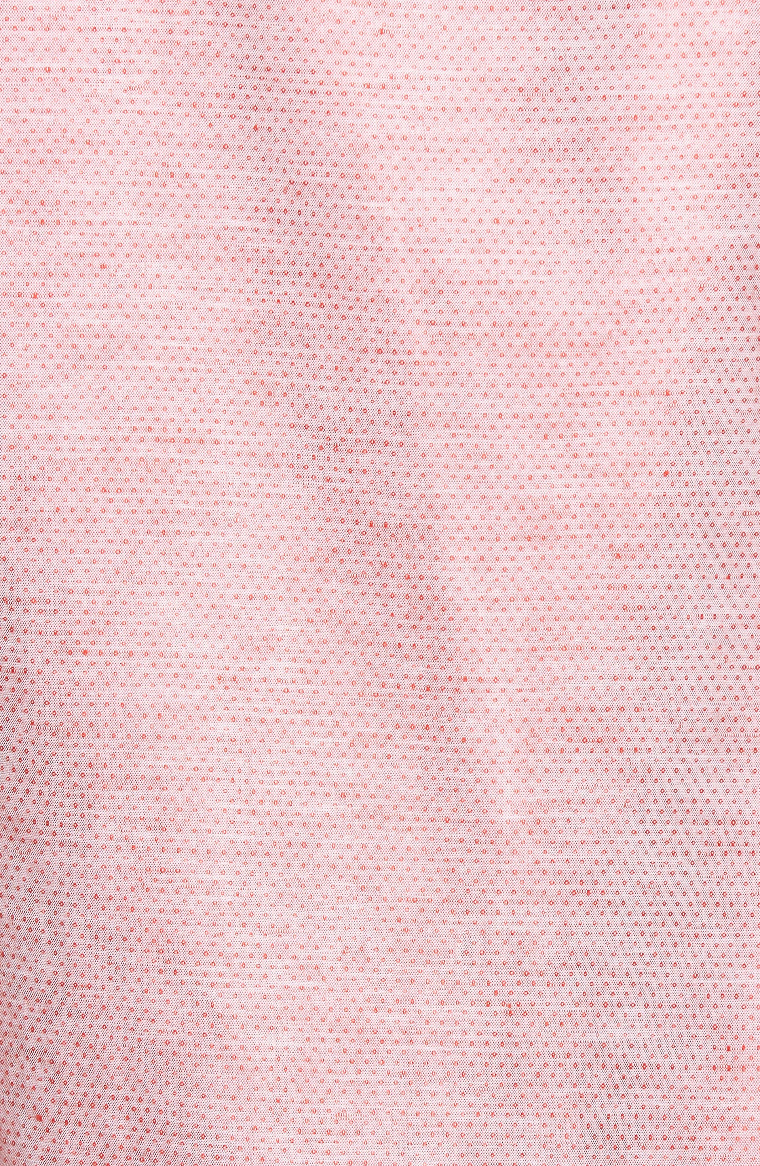 Dobby Cotton & Linen Sport Shirt,                             Alternate thumbnail 20, color,